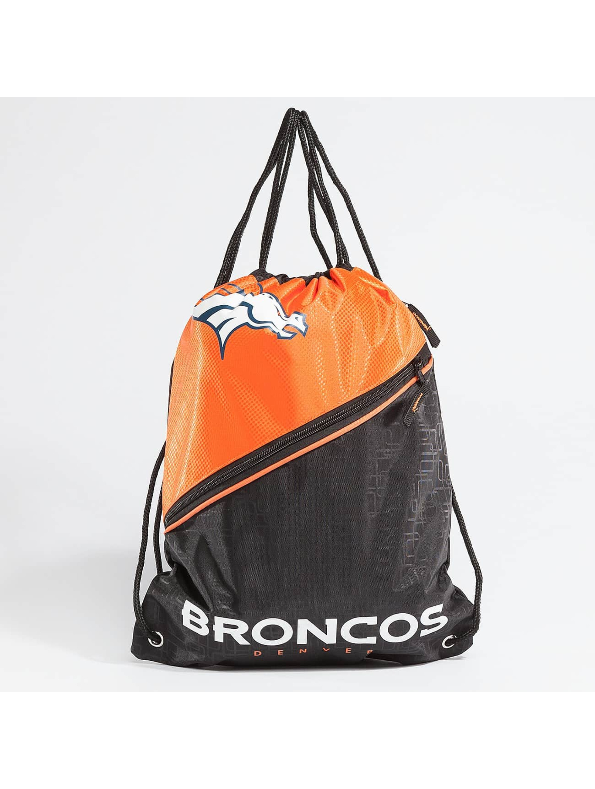 Forever Collectibles Männer,Frauen Beutel NFL Diagonal Zip Drawstring Broncos in schwarz