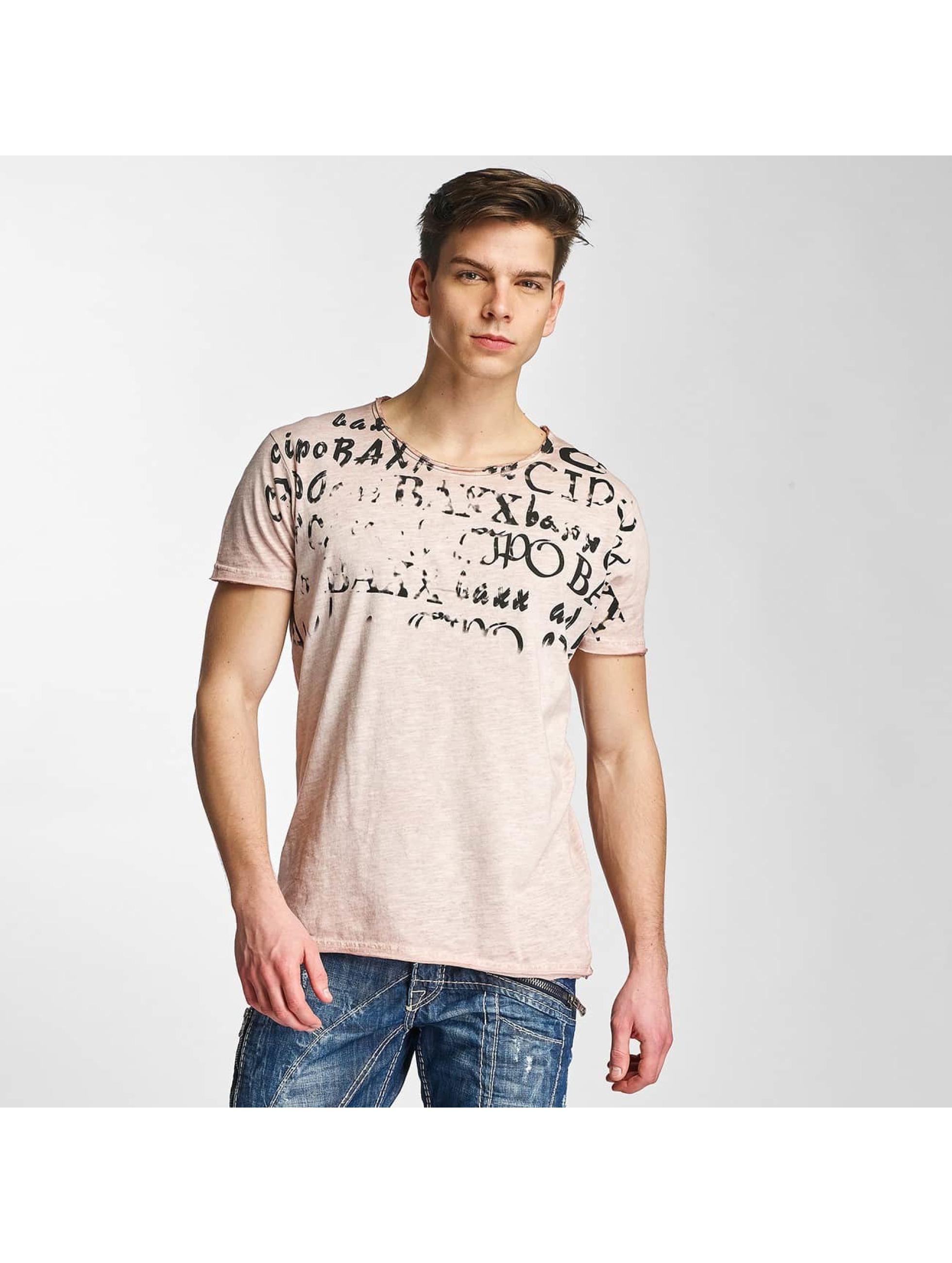 Cipo & Baxx Männer T-Shirt Fritz G in rosa