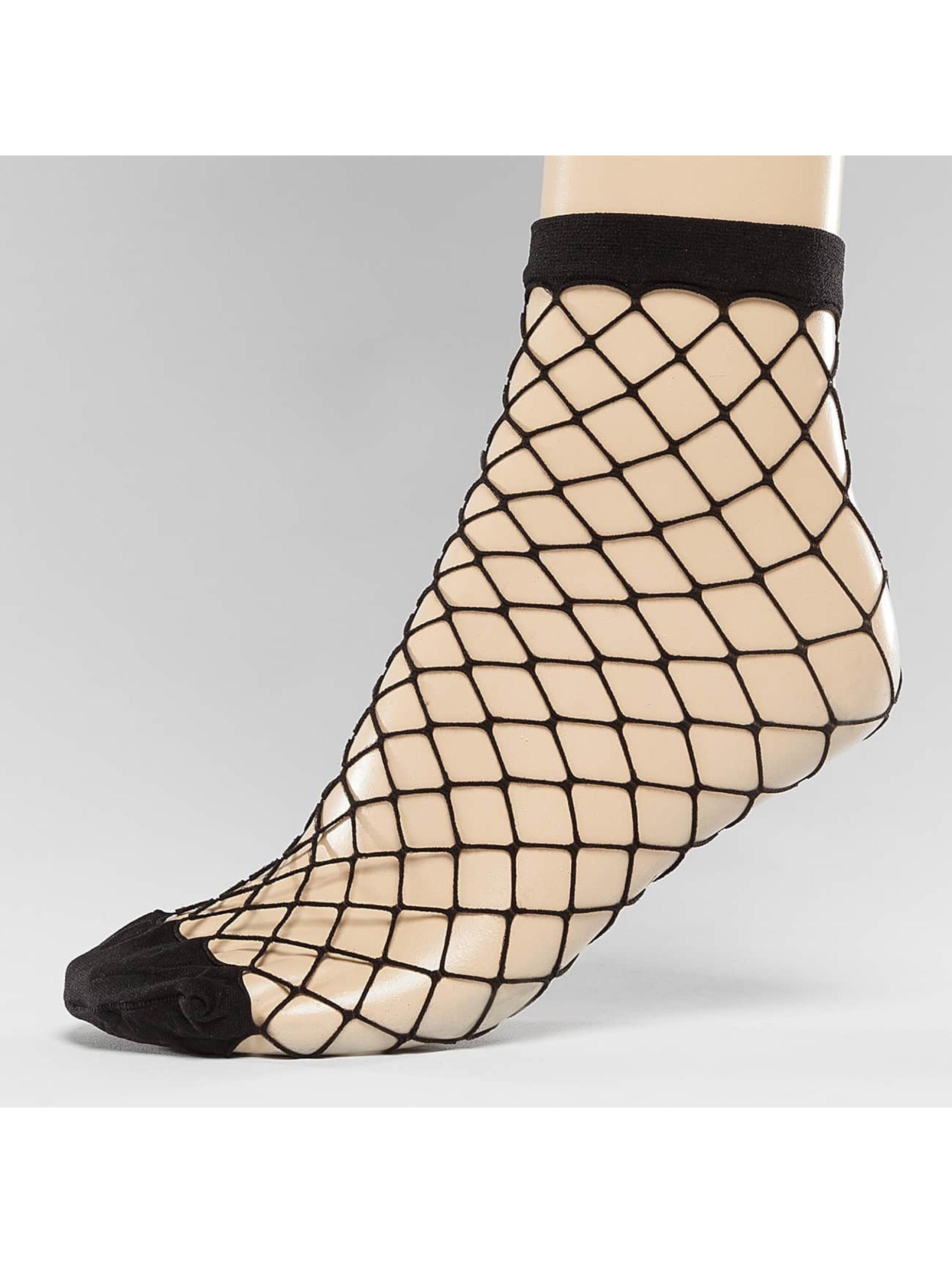 Pieces Frauen Socken pcFishnet in schwarz