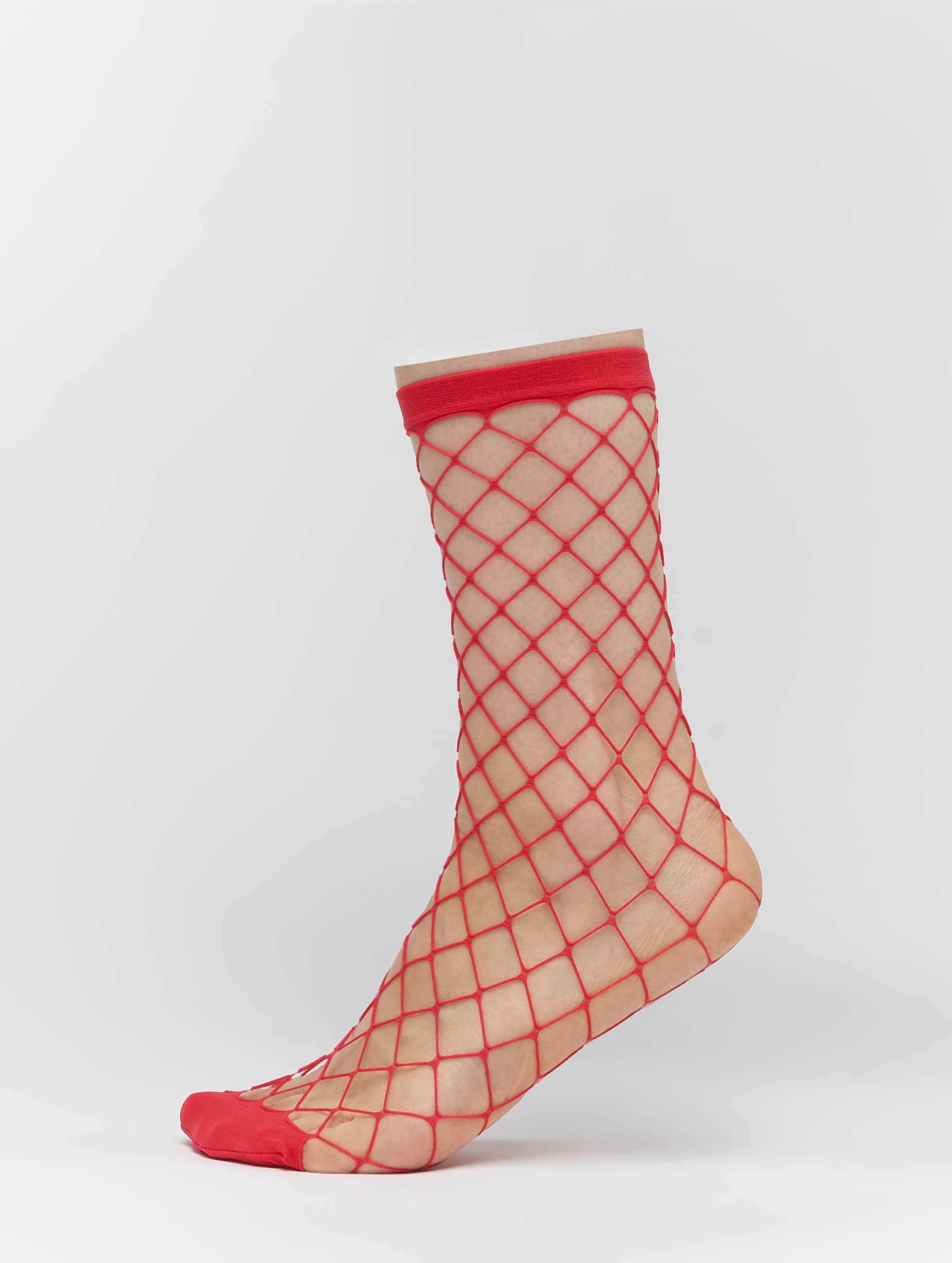 Pieces Frauen Socken pcFishnet in rot