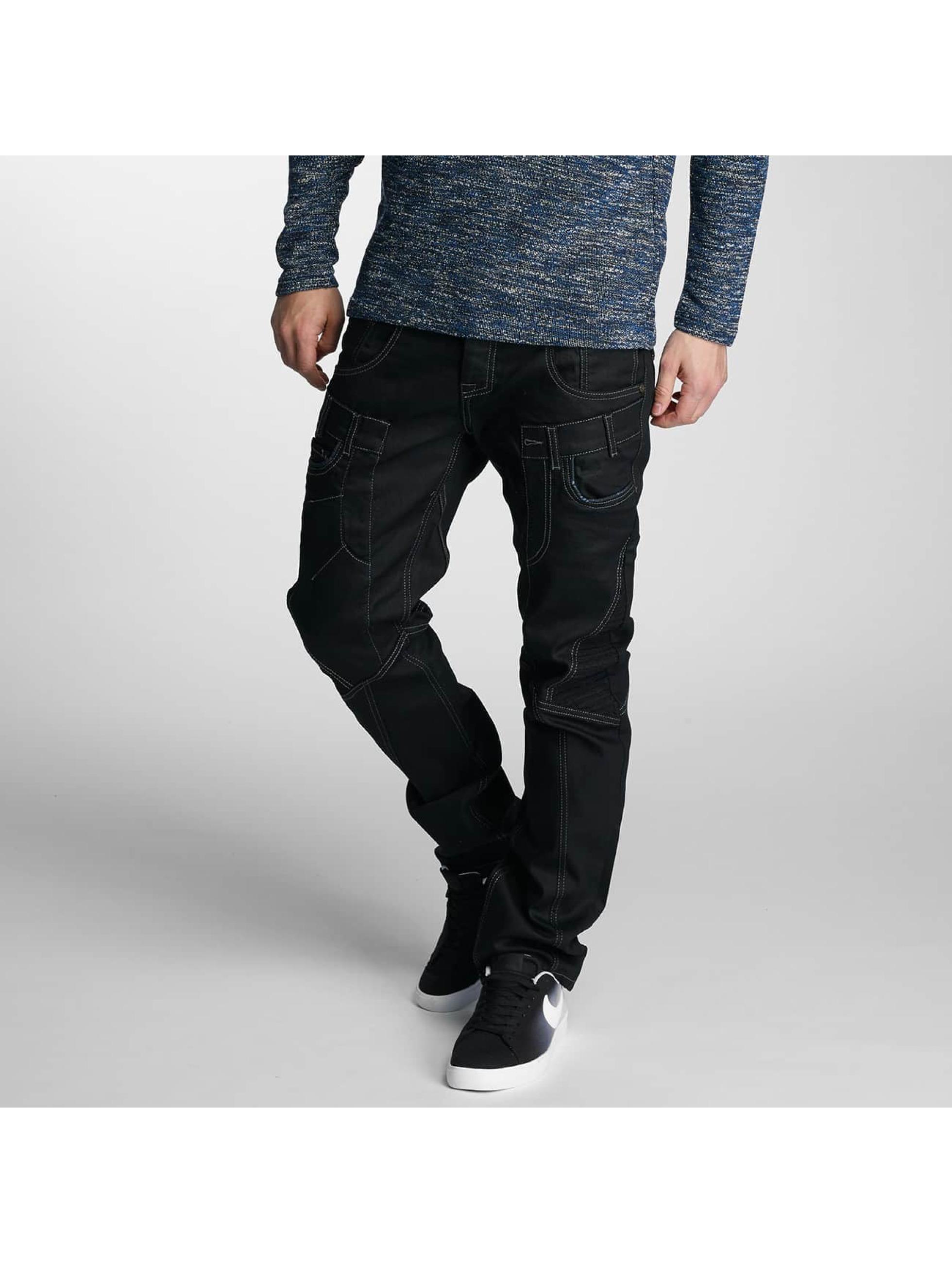 Cipo & Baxx Männer Straight Fit Jeans Dalvik in schwarz