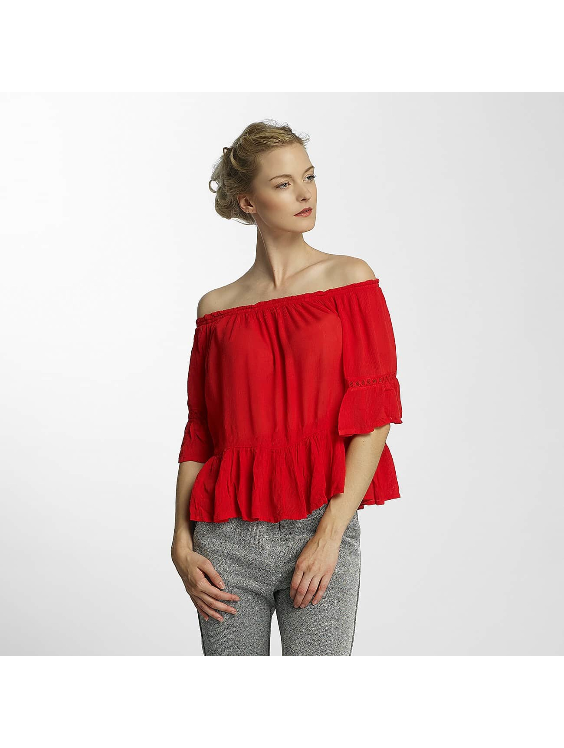 Only Frauen Bluse onlBingo Off Shoulder Peplum in rot