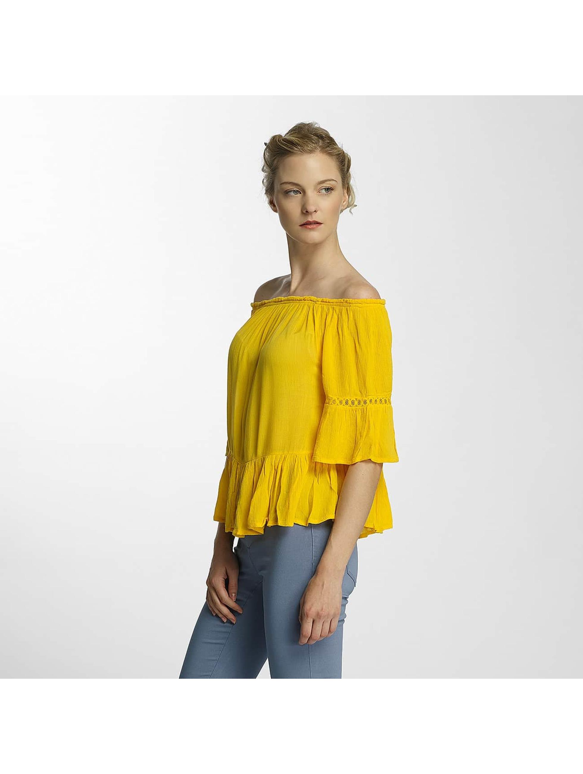 Only Frauen Bluse onlBingo Off Shoulder Peplum in gelb