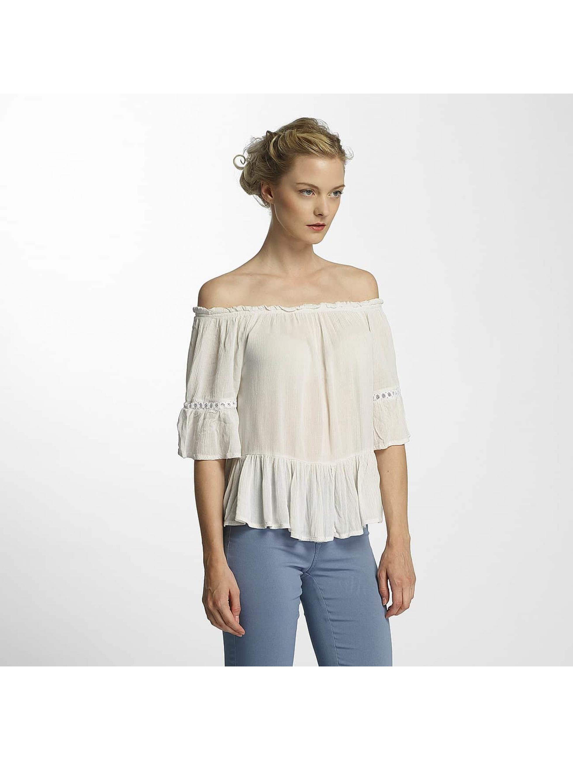 Only Frauen Bluse onlBingo Off Shoulder Peplum in weiß