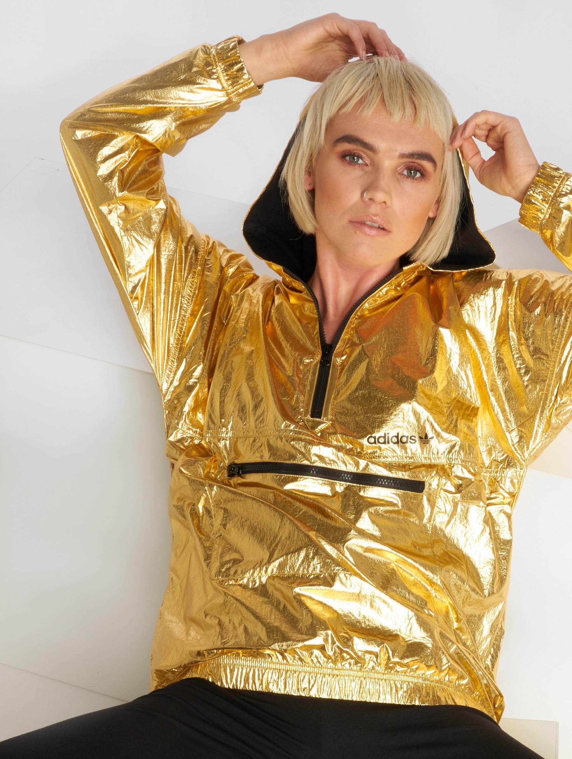 adidas Frauen Übergangsjacke Golden in goldfarben