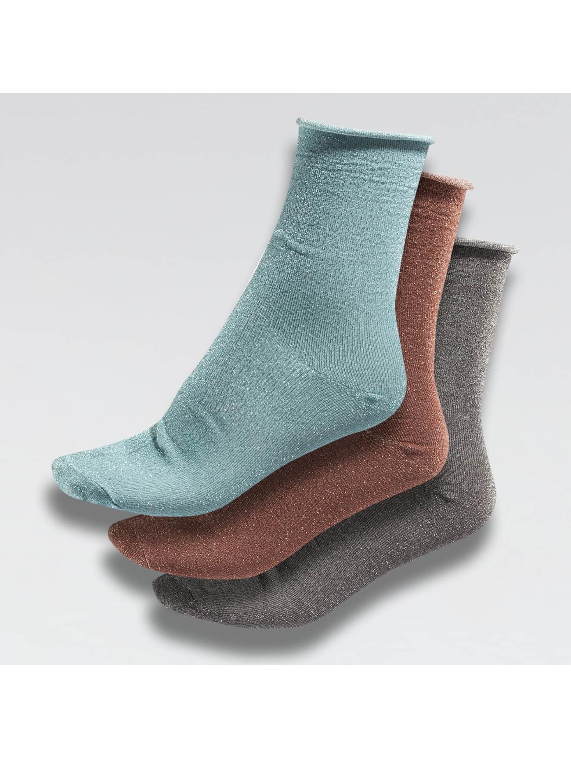 Nümph Frauen Socken Beachplum Glitter in bunt