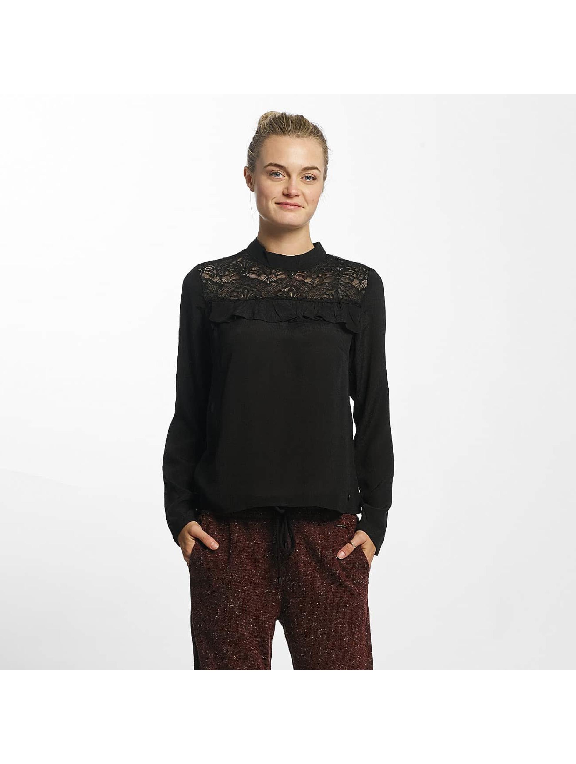 Nümph Frauen Bluse Worthleberry in schwarz