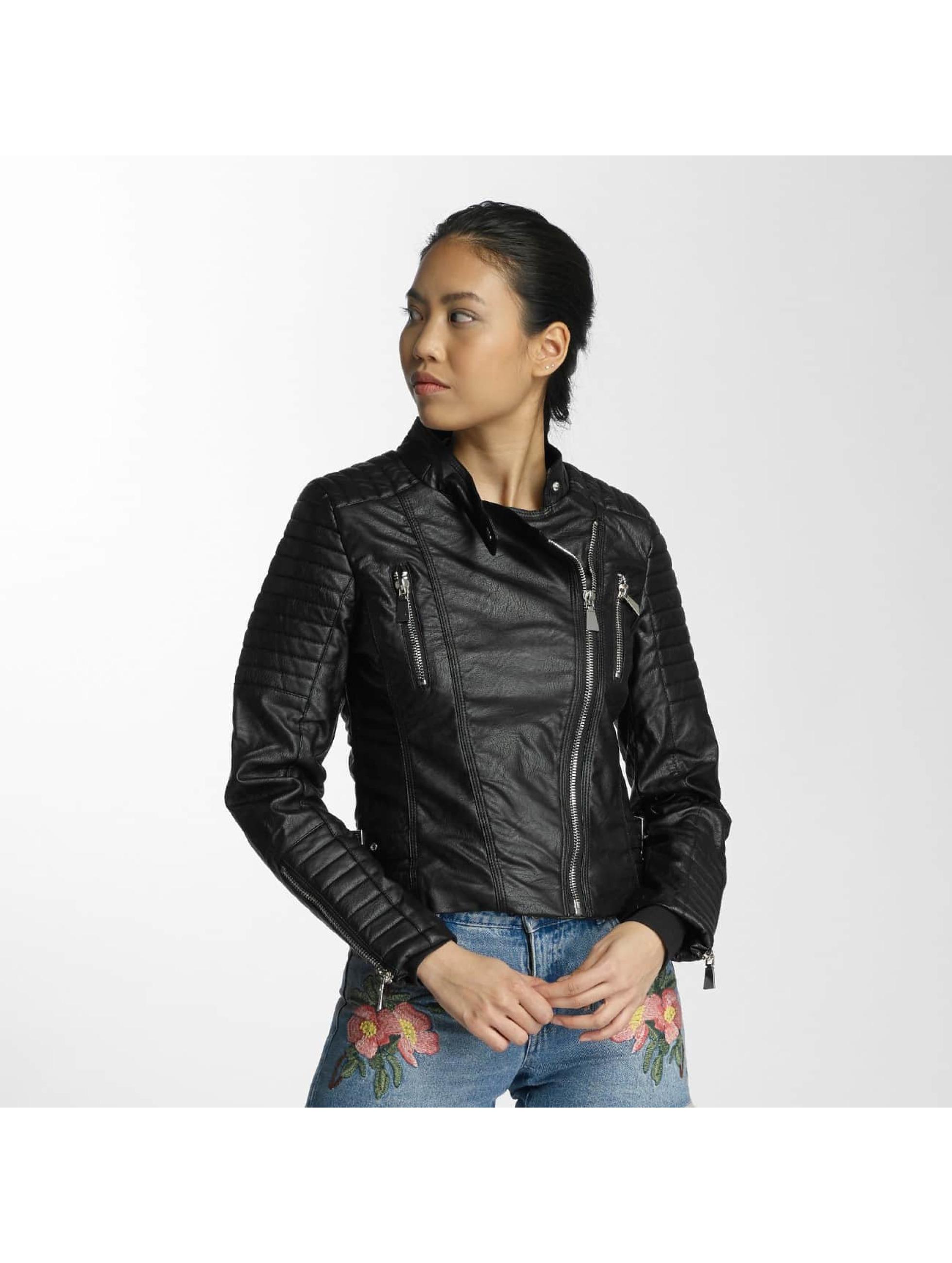 Hailys Frauen Lederjacke Vanessa in schwarz