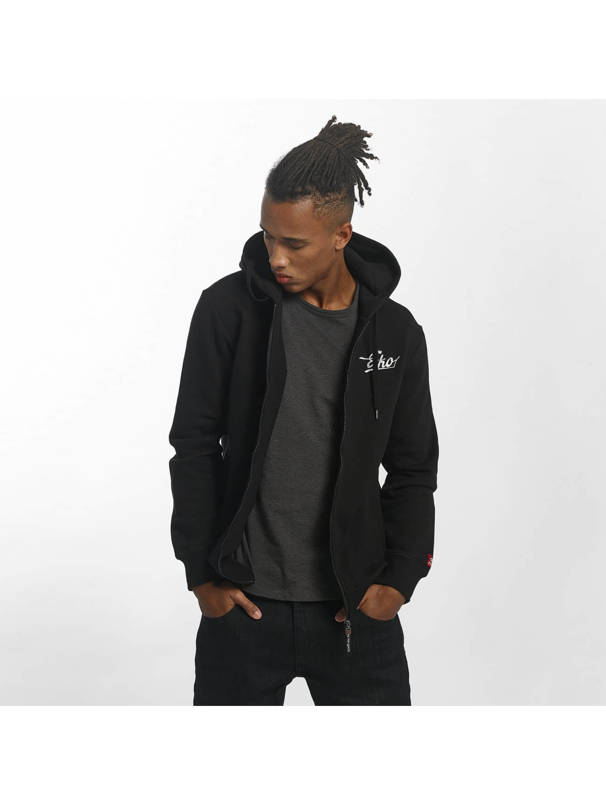Ecko Unltd. / Zip Hoodie Back Print in black 4XL