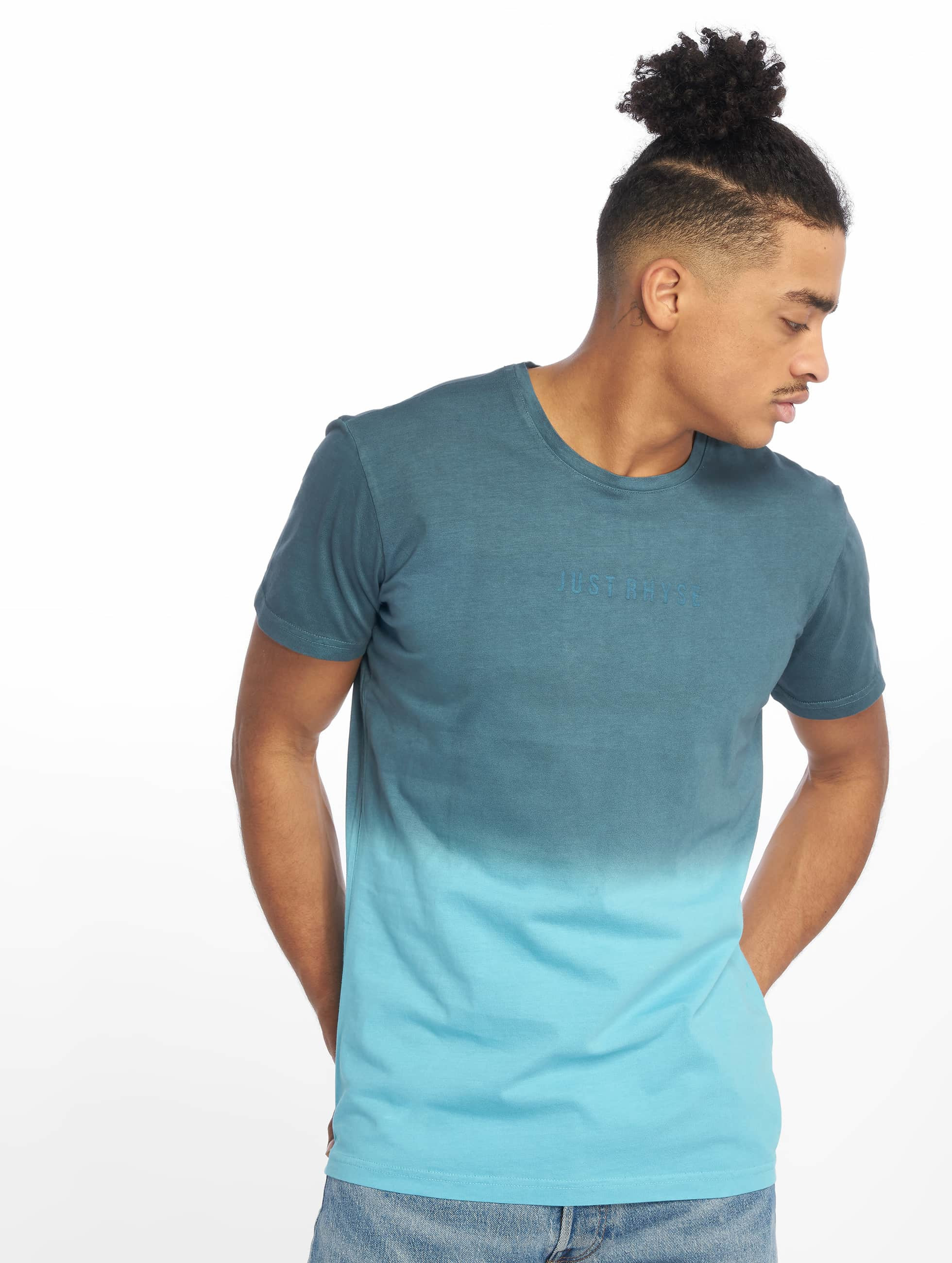 Just Rhyse / T-Shirt Two Tone in blue 2XL