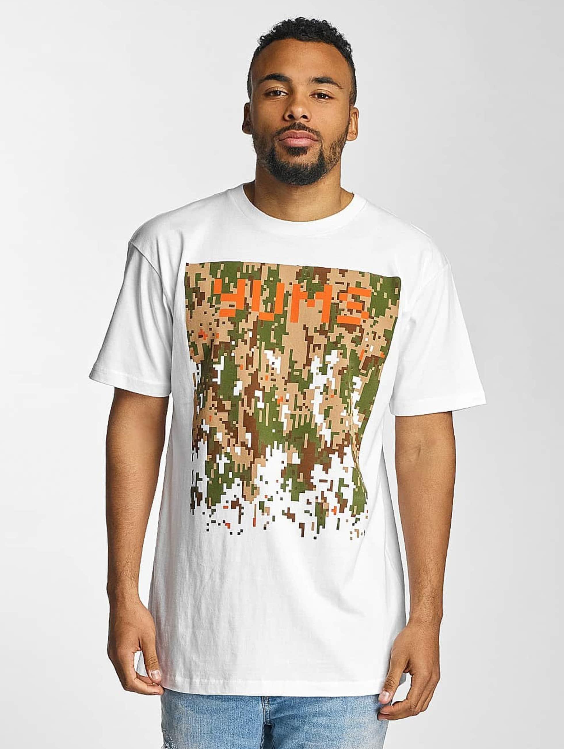 Yums Männer T-Shirt Digi Drip in weiß