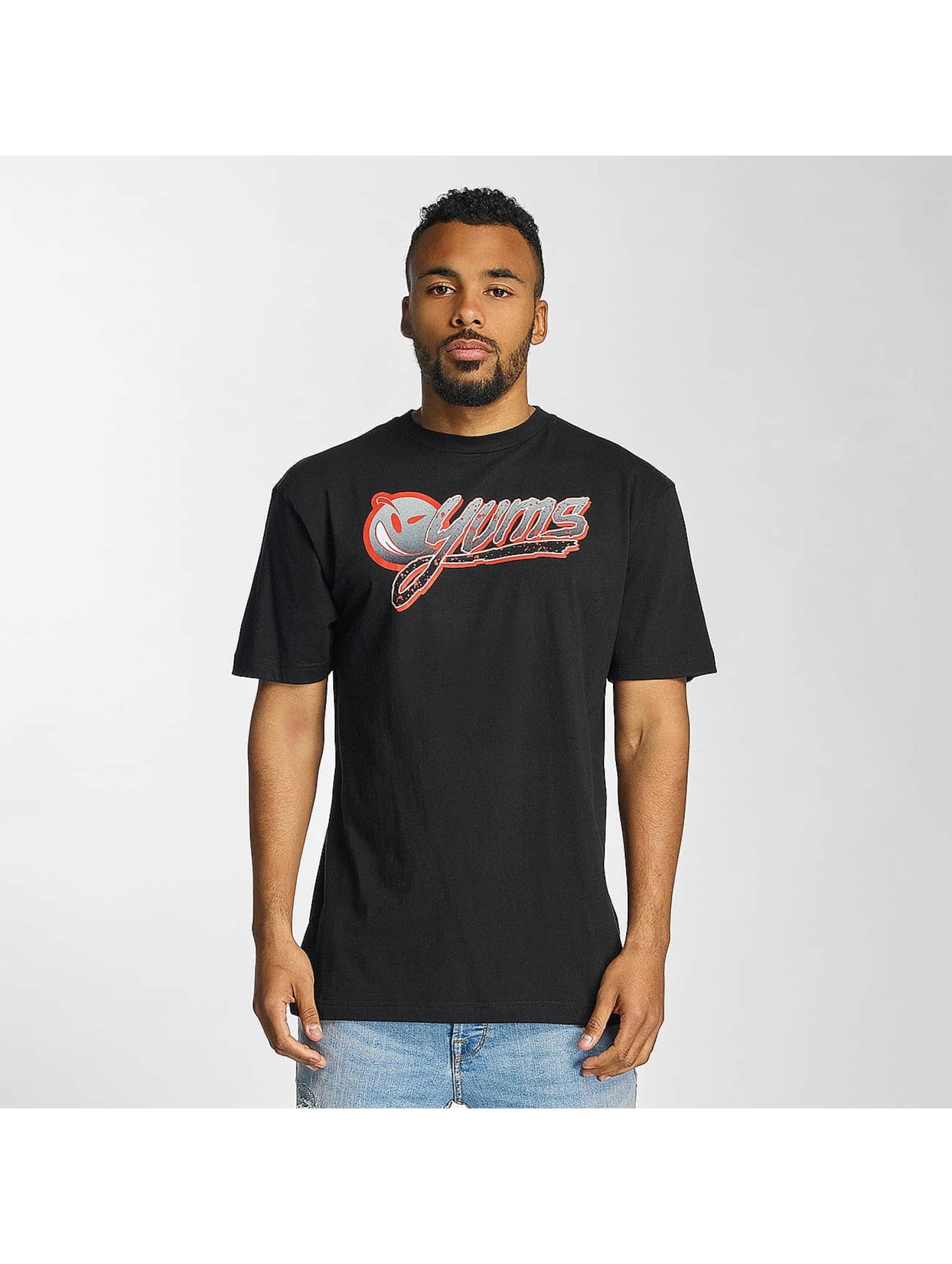Yums Männer T-Shirt Wild Splatter in schwarz
