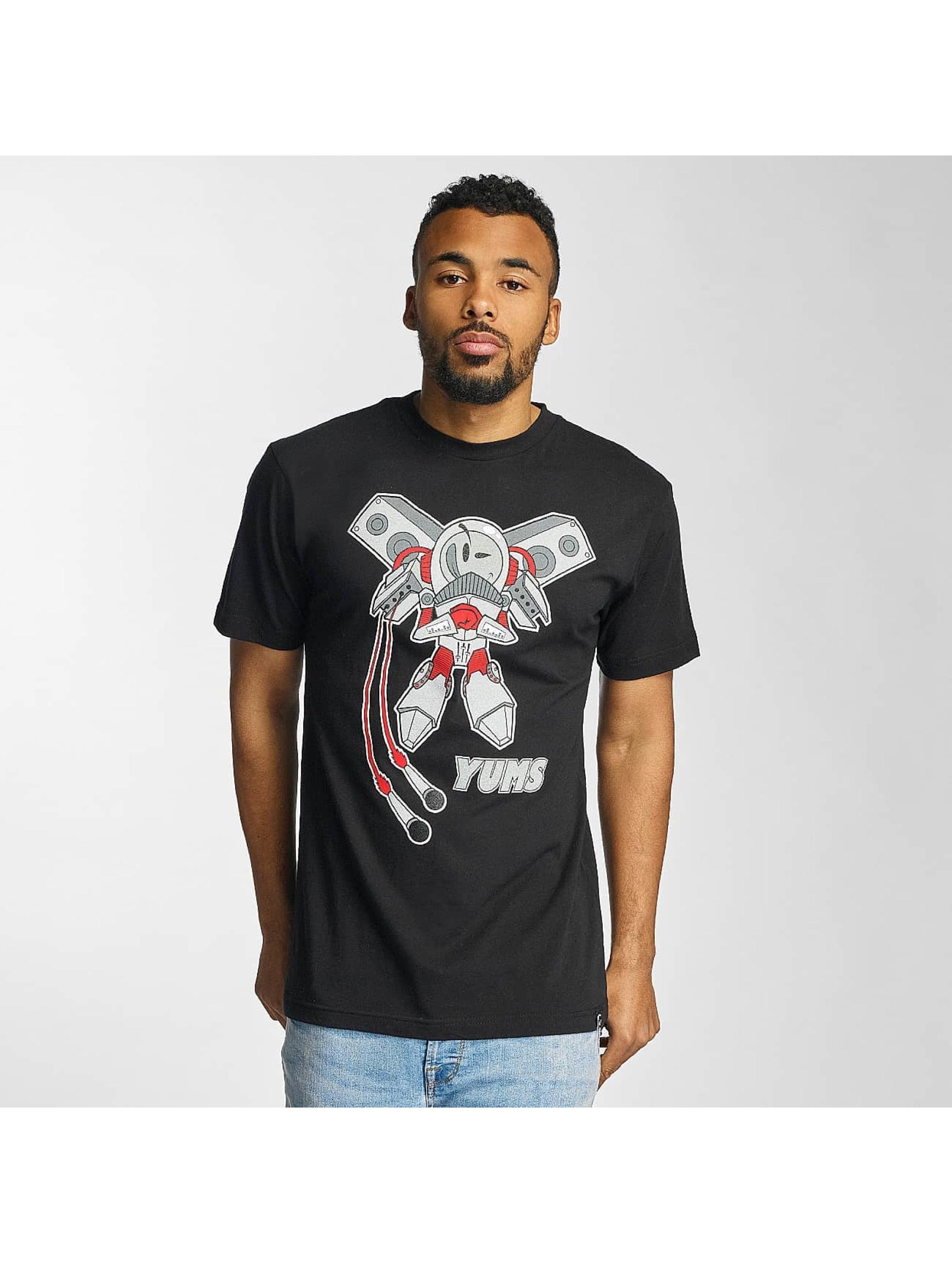 Yums Männer T-Shirt Rocket Boy in schwarz