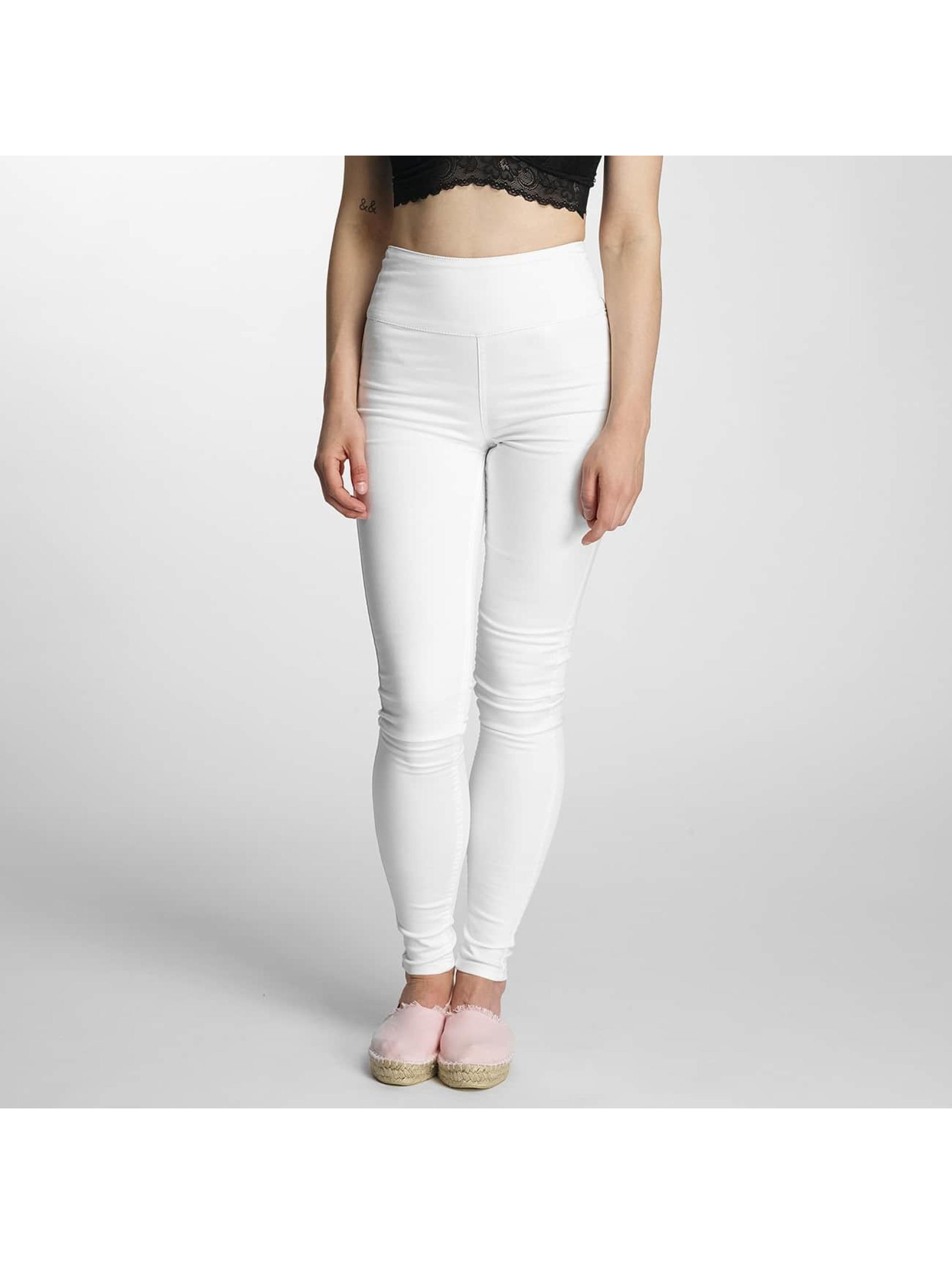 Pieces Frauen High Waist Jeans pcJust in weiß