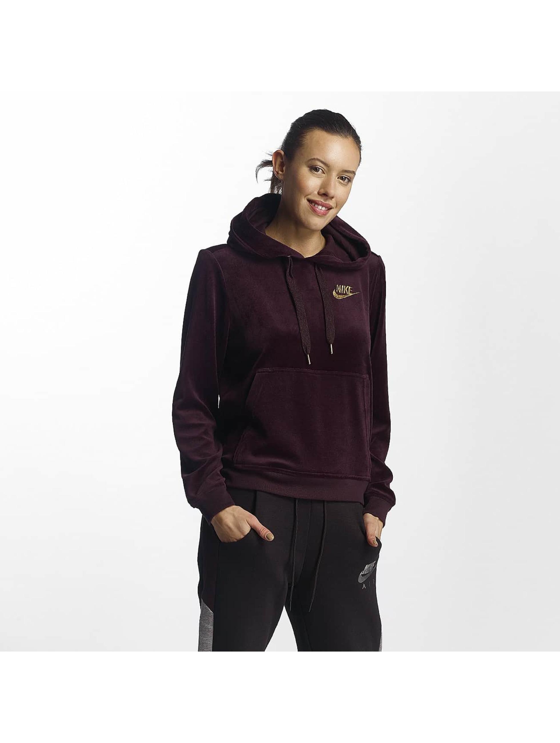 Nike Frauen Hoody NSW Velour in rot