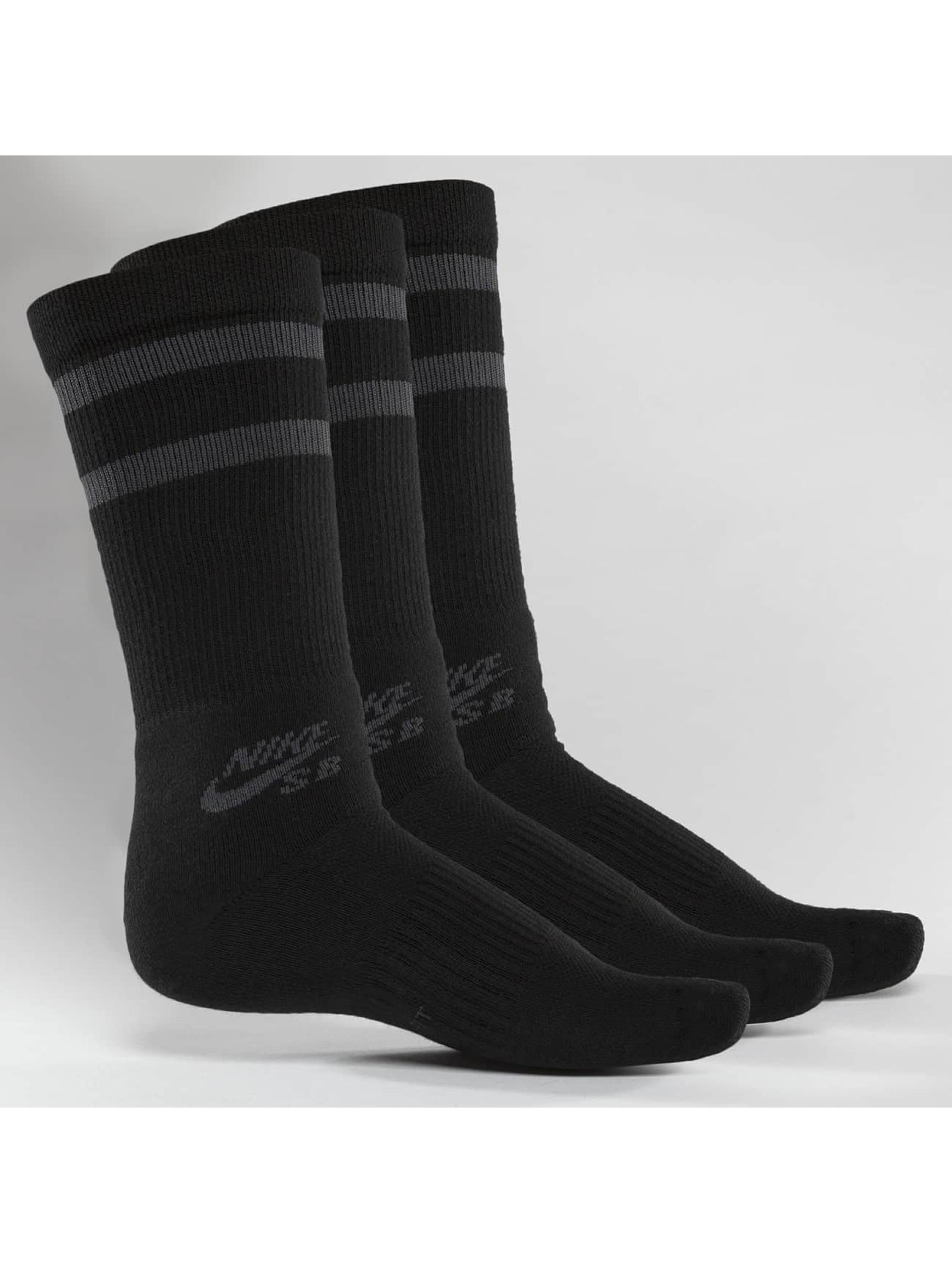Nike SB Männer,Frauen Socken SB Crew Skateboarding 3-Pack in schwarz