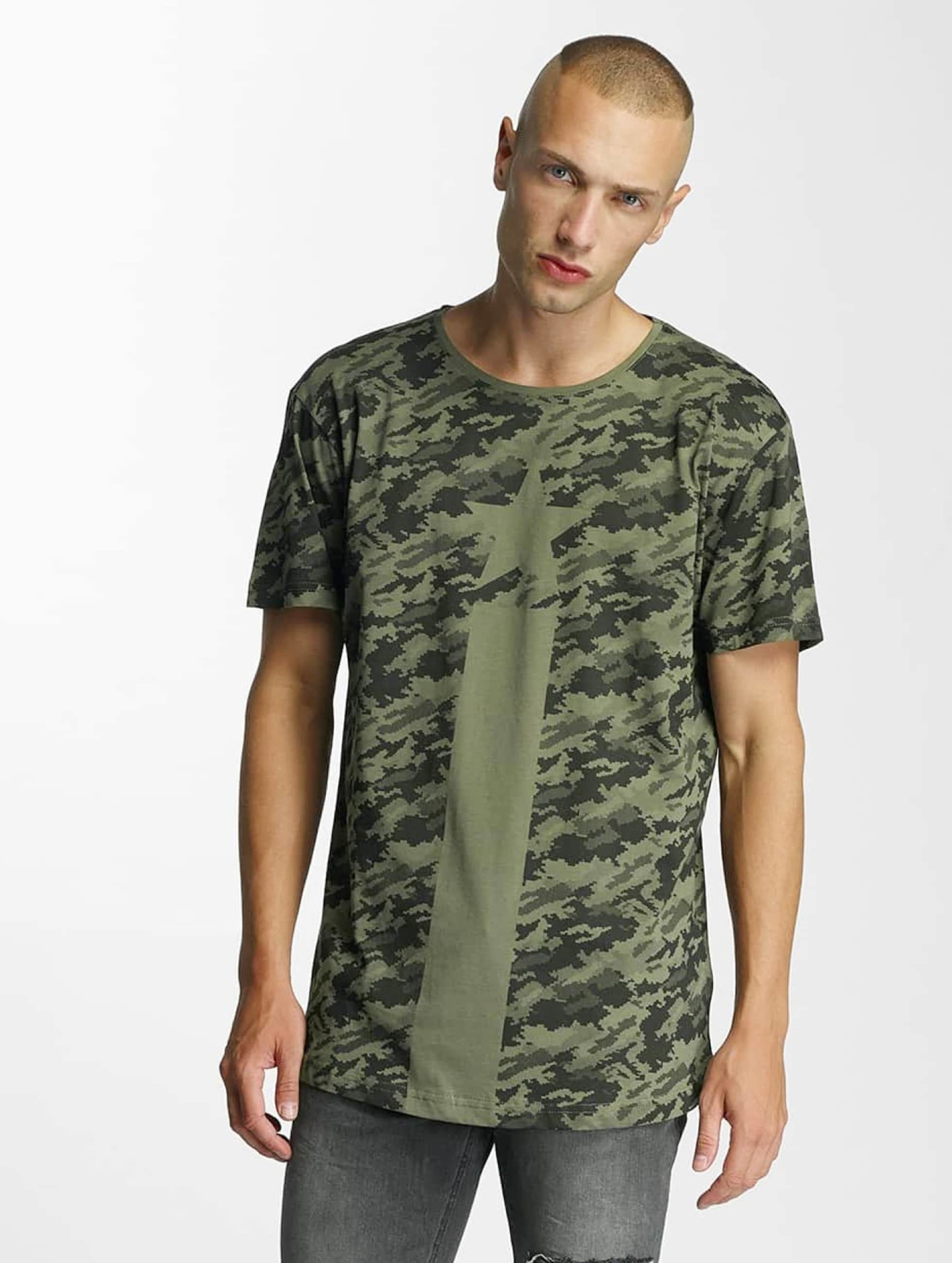 Bangastic Männer T-Shirt Camo in olive