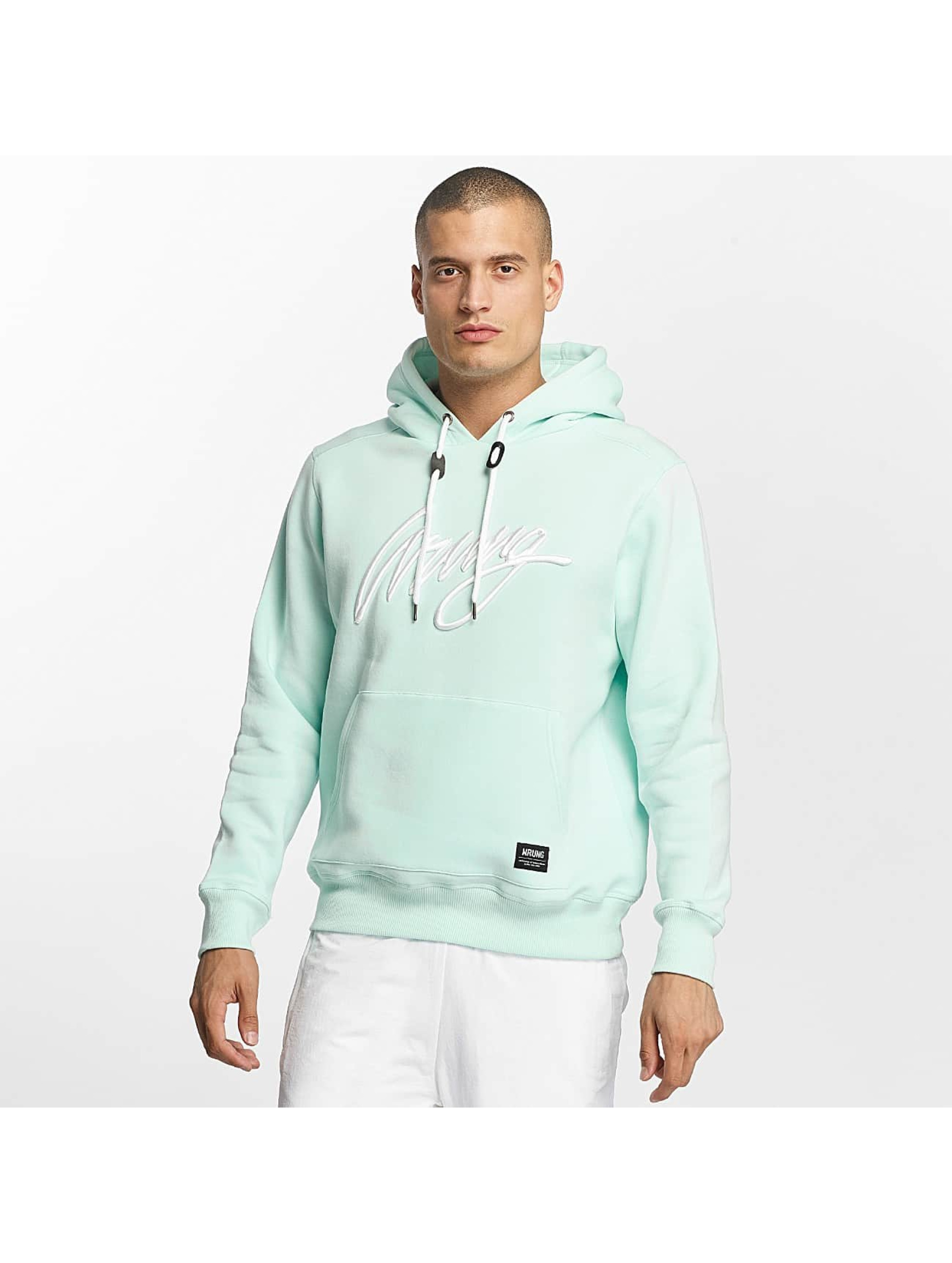 Wrung Division Männer Hoody Signature in türkis