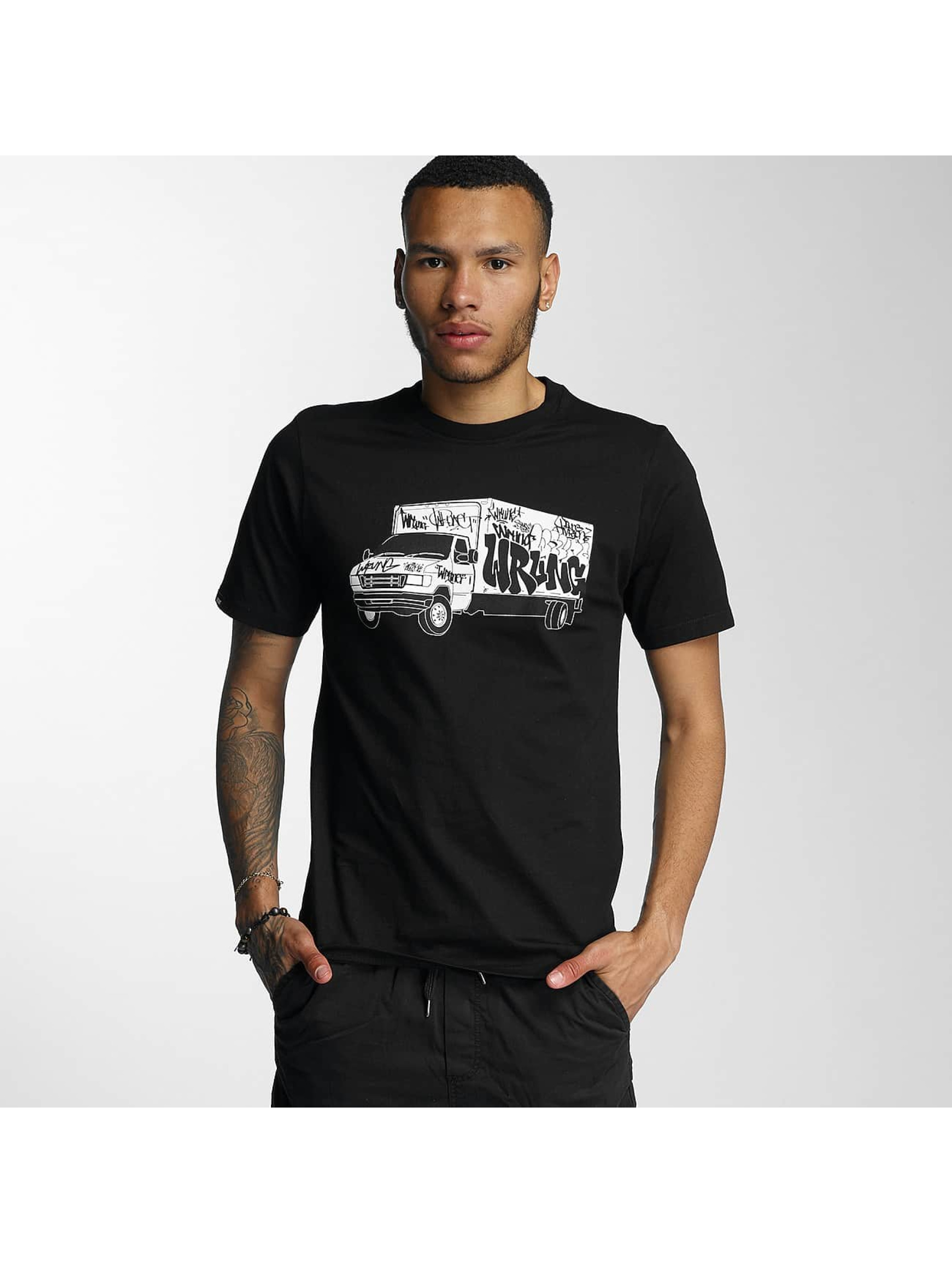 Wrung Division Männer T-Shirt Truck in schwarz