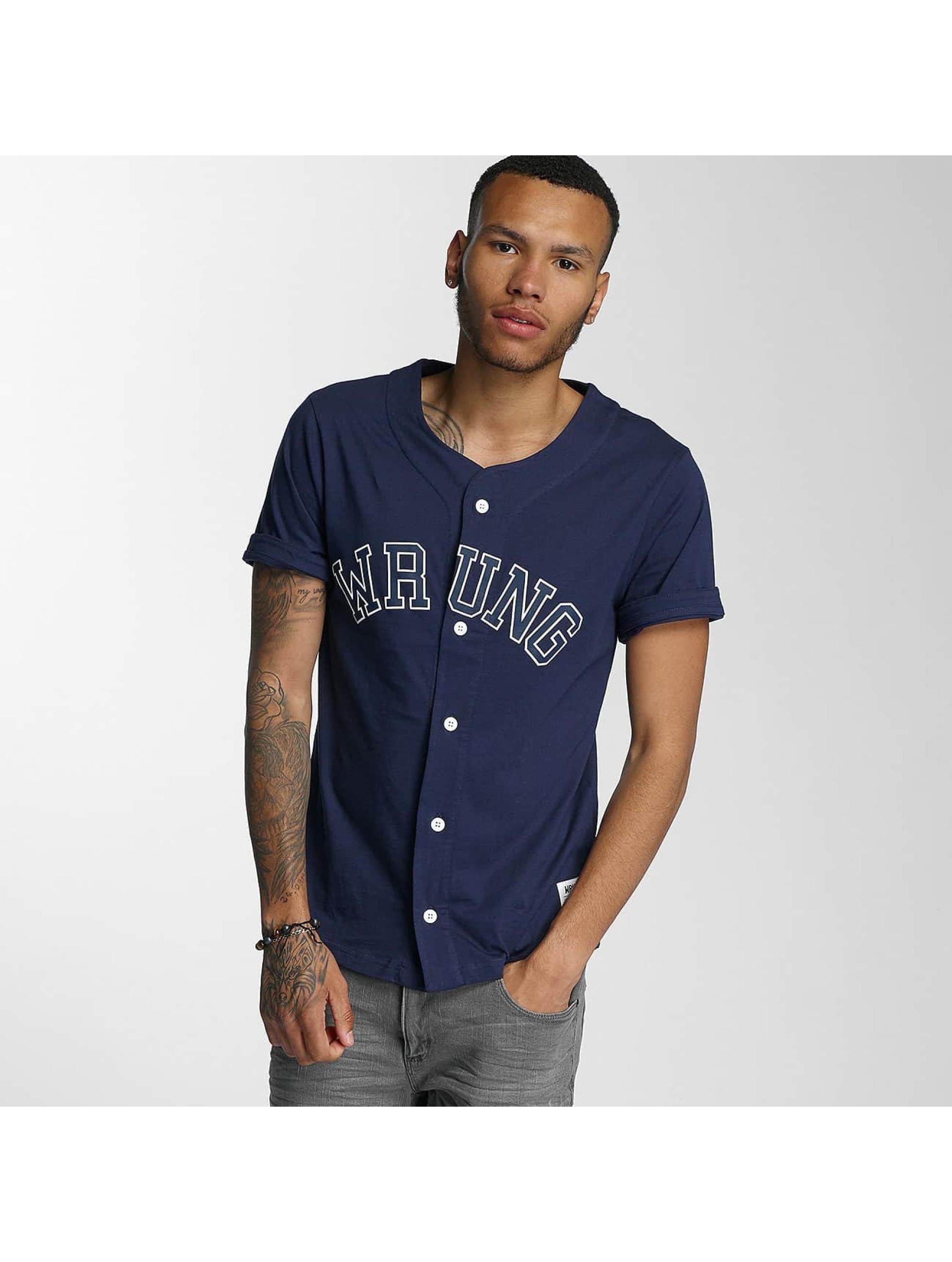 Wrung Division Männer Hemd Hitman Baseball in blau