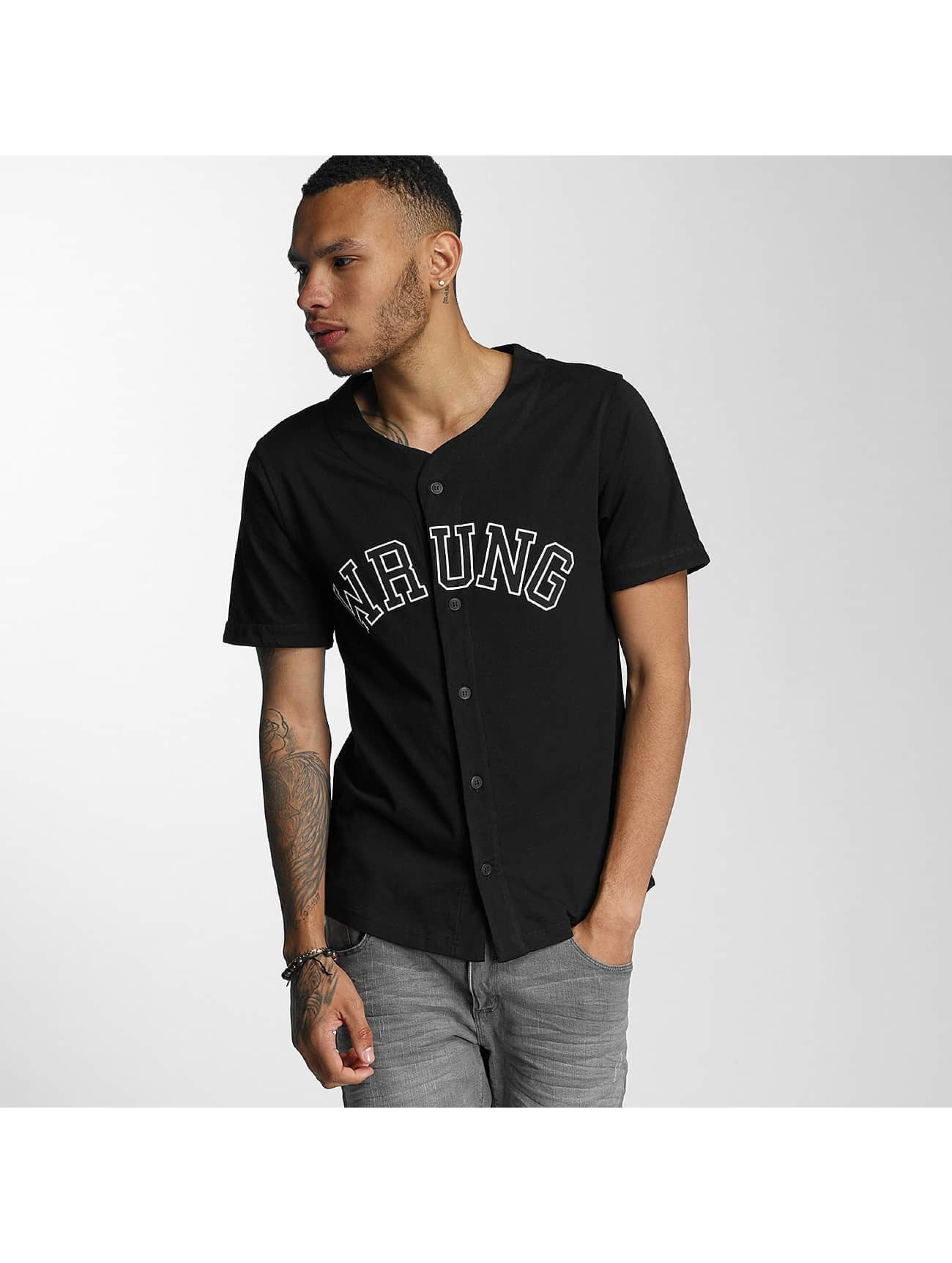 Wrung Division Männer Hemd Hitman Baseball in schwarz