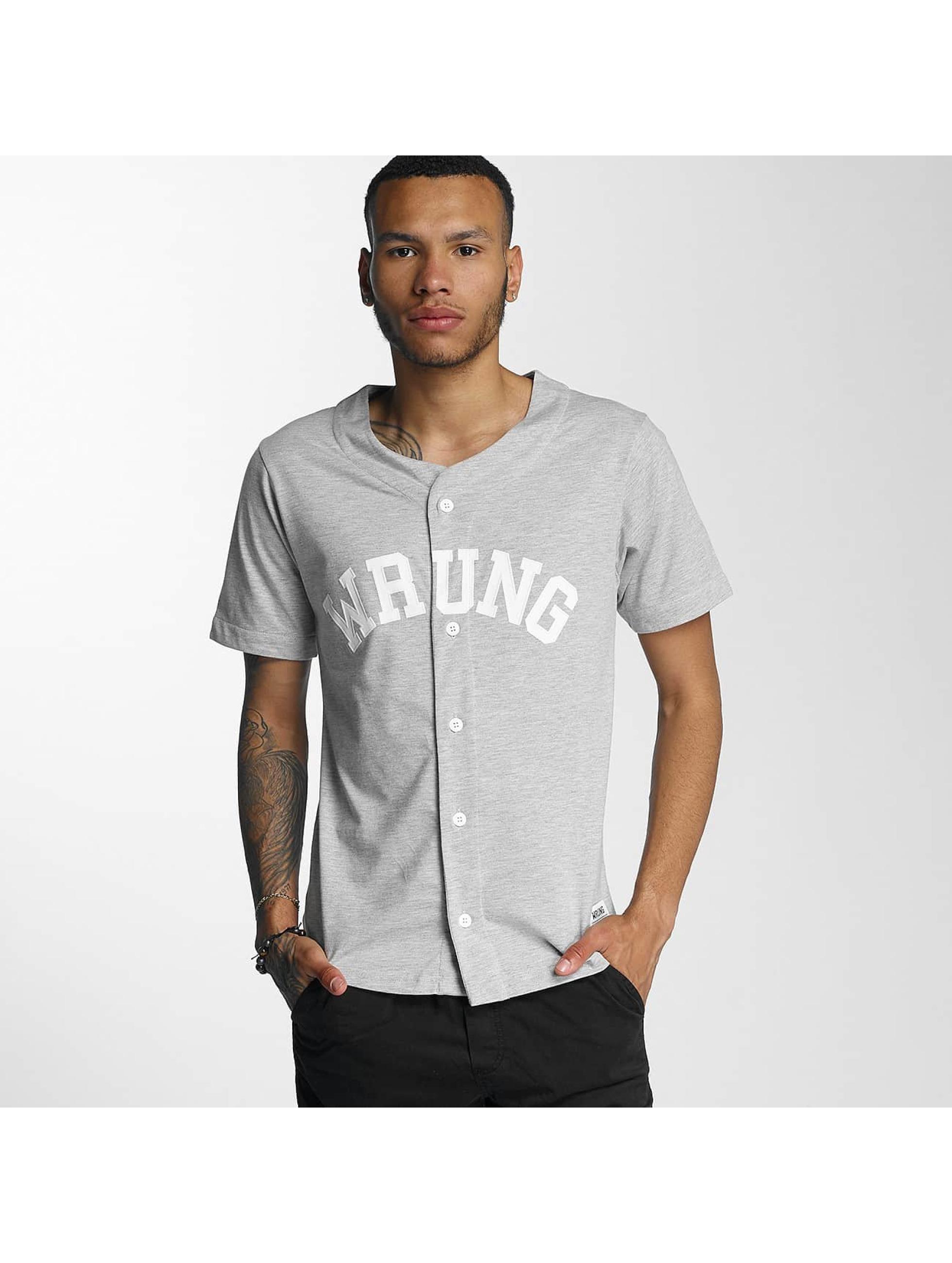 Wrung Division Männer Hemd Hitman Baseball in grau