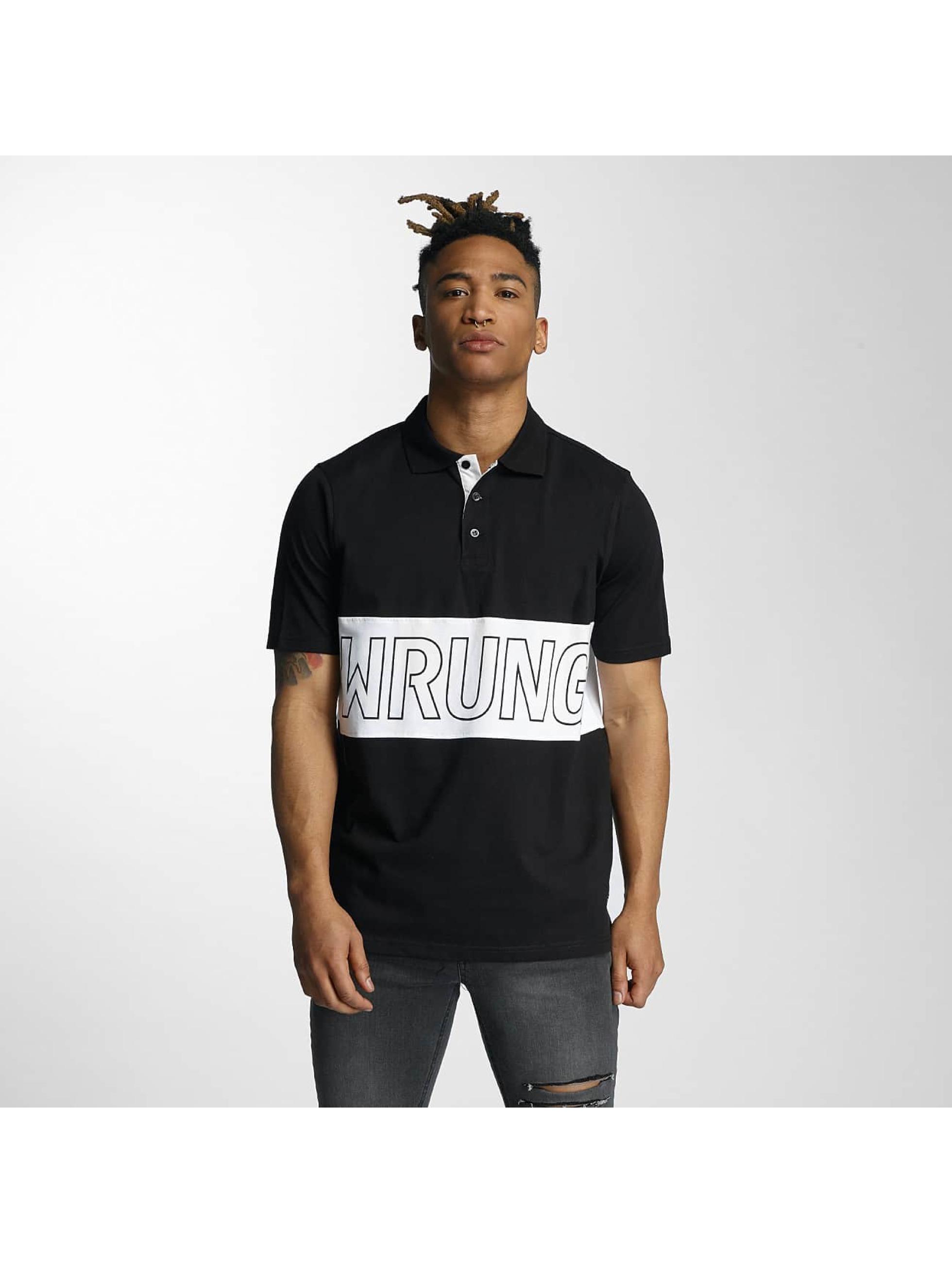 Wrung Division Männer Poloshirt Sport in schwarz