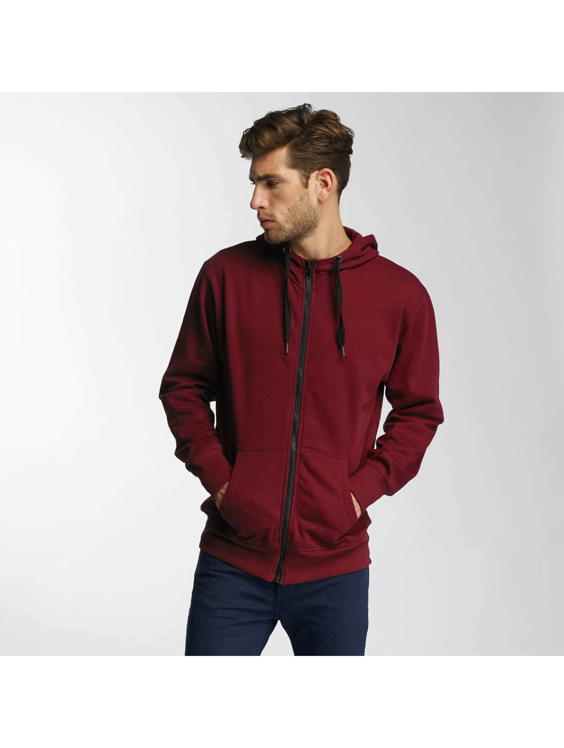 Paris Premium Männer Zip Hoodie Town House in rot