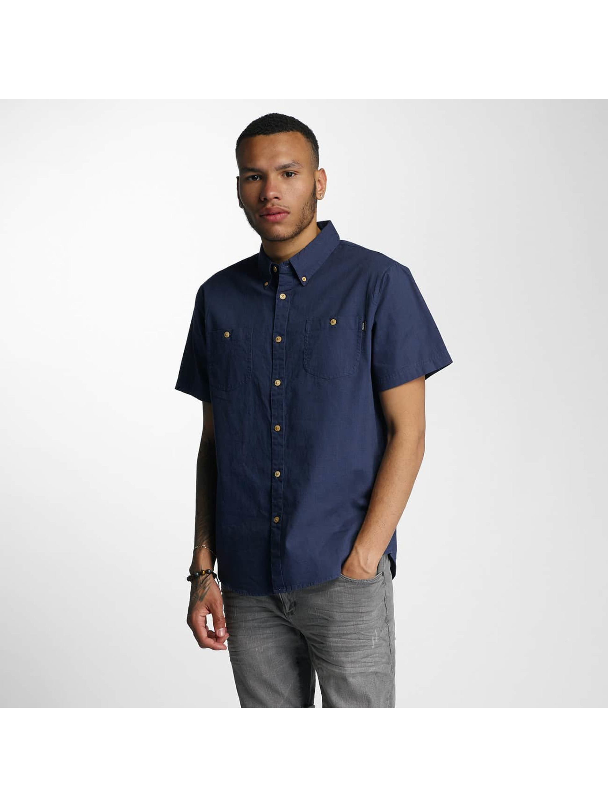 Wrung Division Männer Hemd Linen in indigo