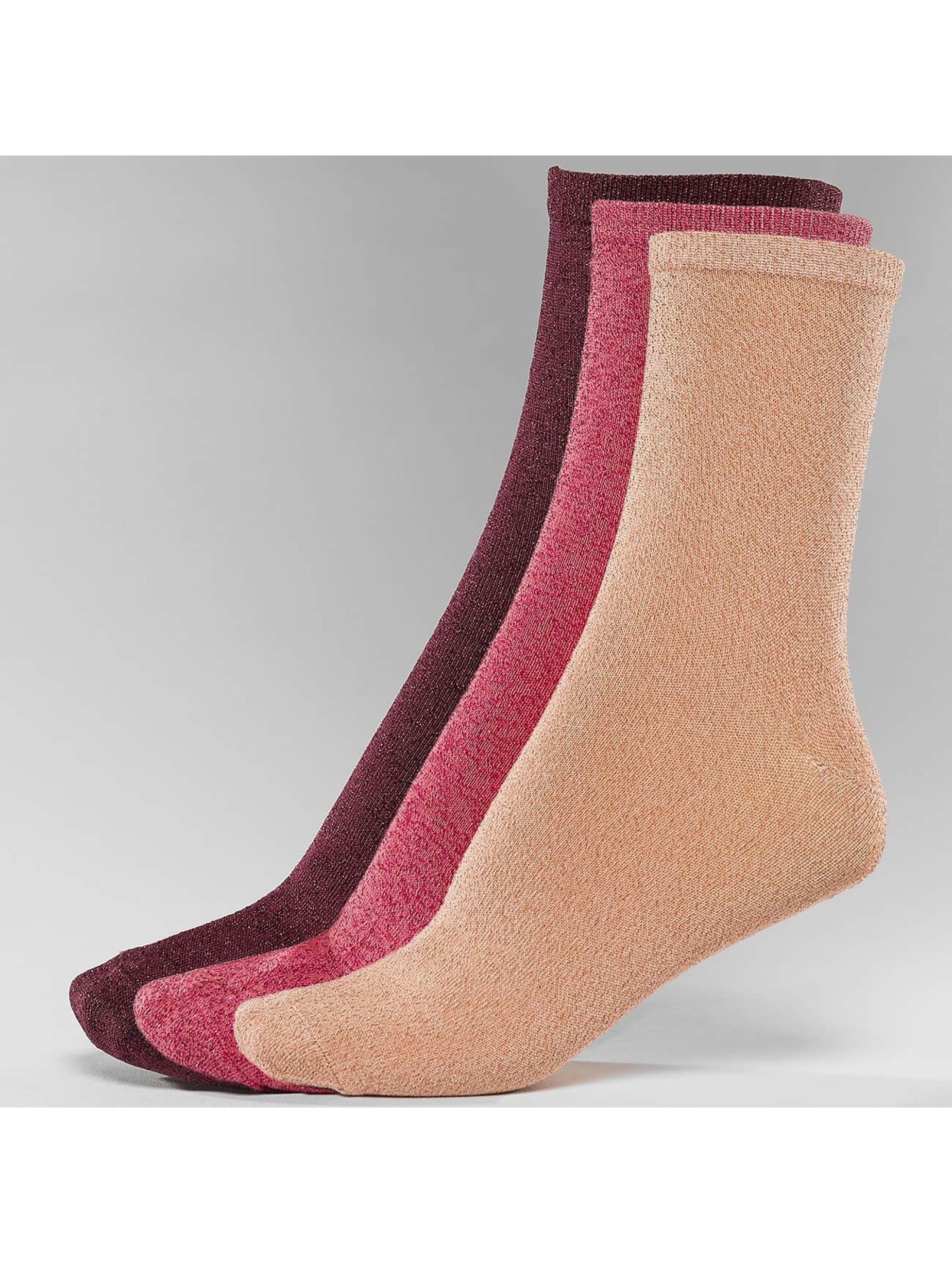 Nümph Frauen Socken Kingcity 3-Pack Glitter in bunt