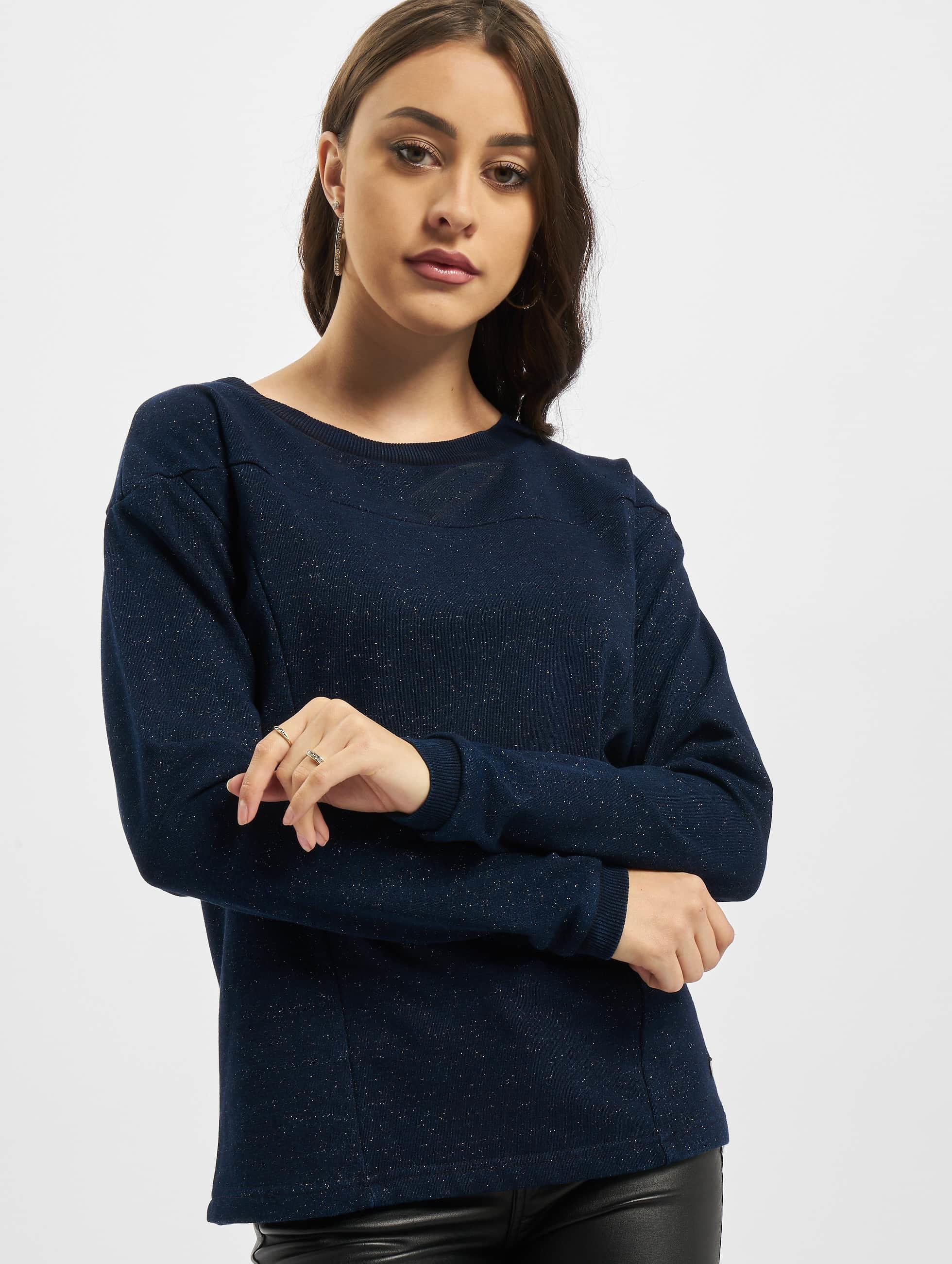 Nümph Frauen Pullover Palmdesert in blau