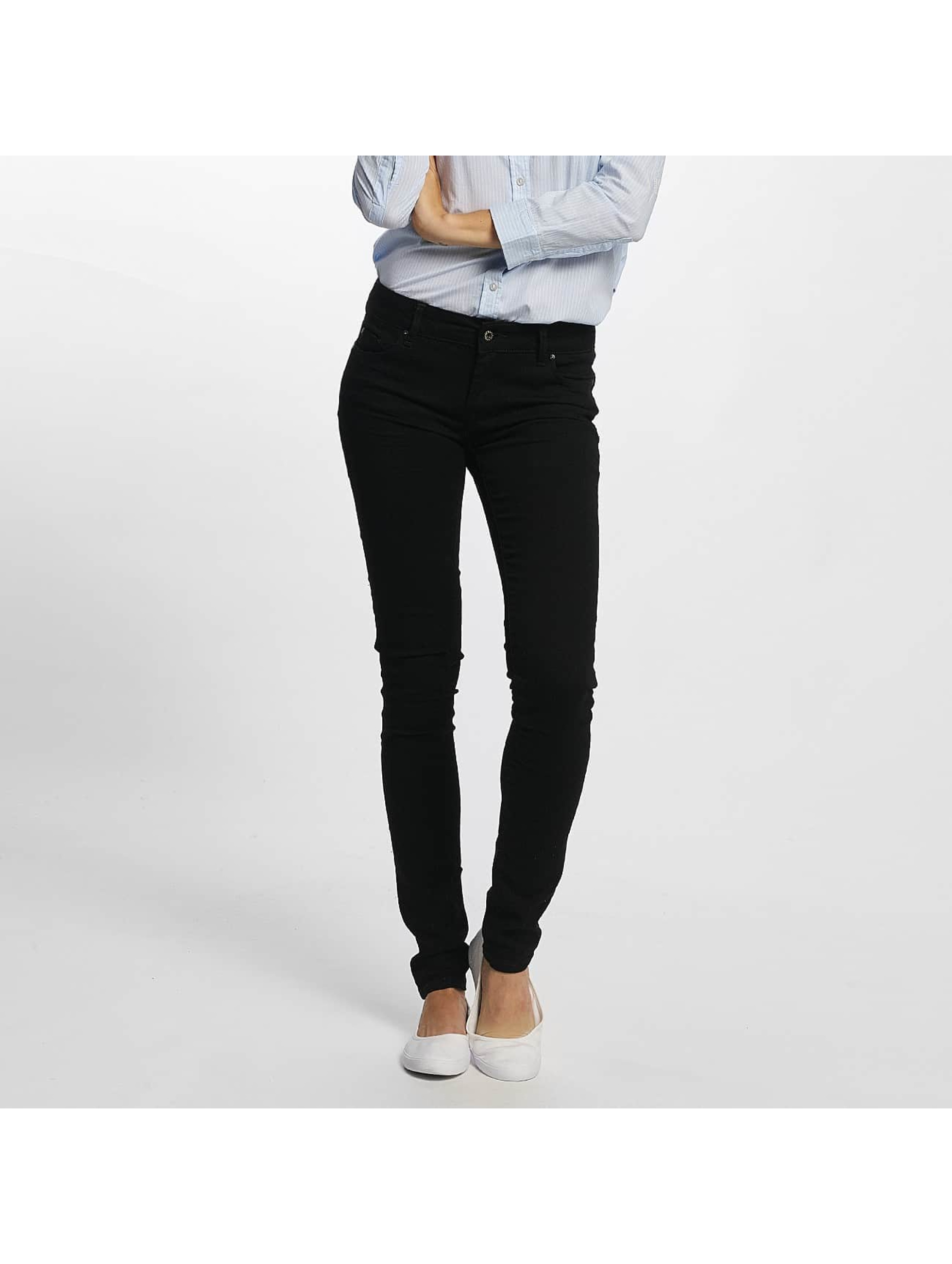Kaporal Frauen Straight Fit Jeans Lock in schwarz