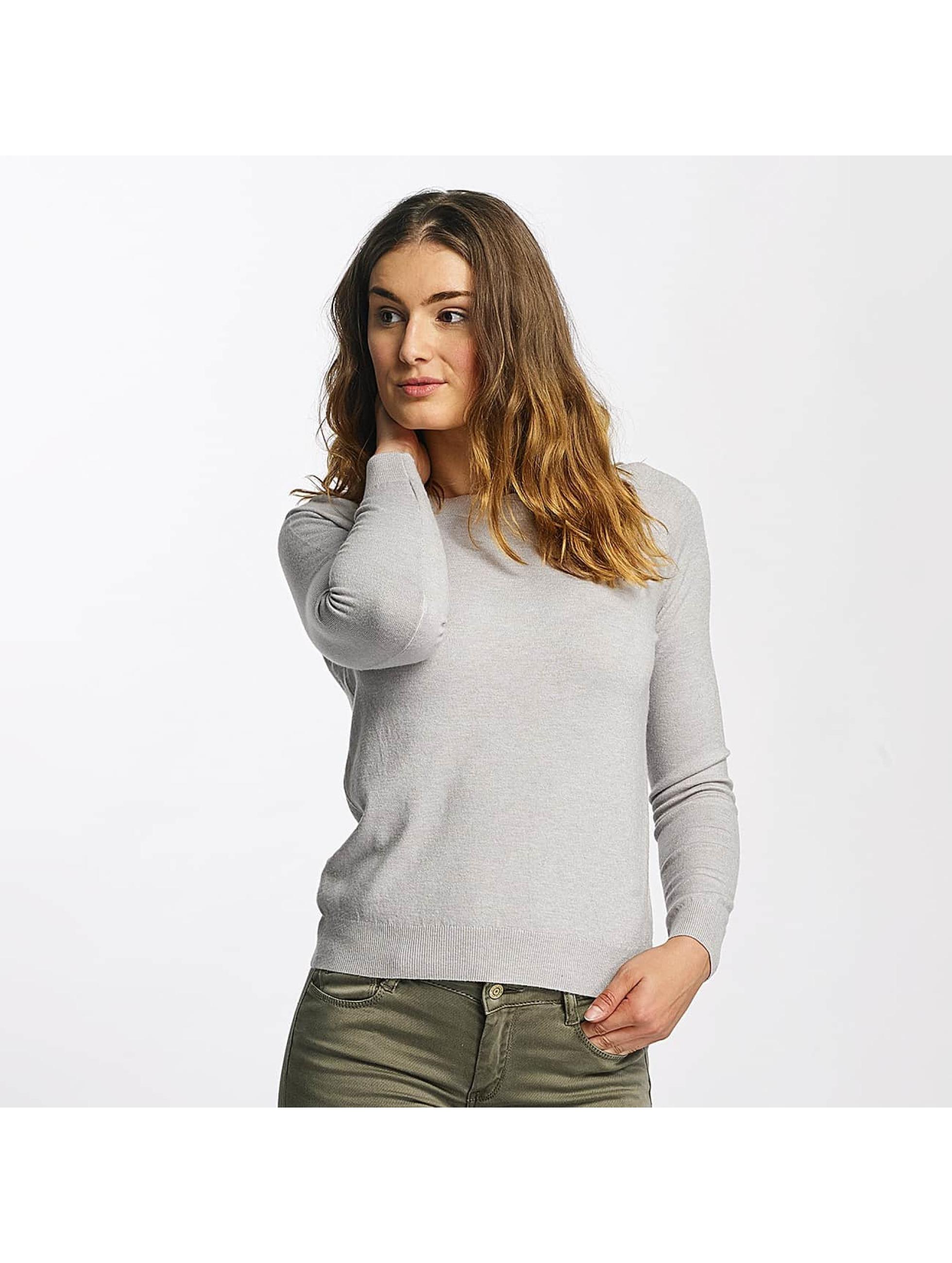 Vero Moda Frauen Pullover vmHappy in grau