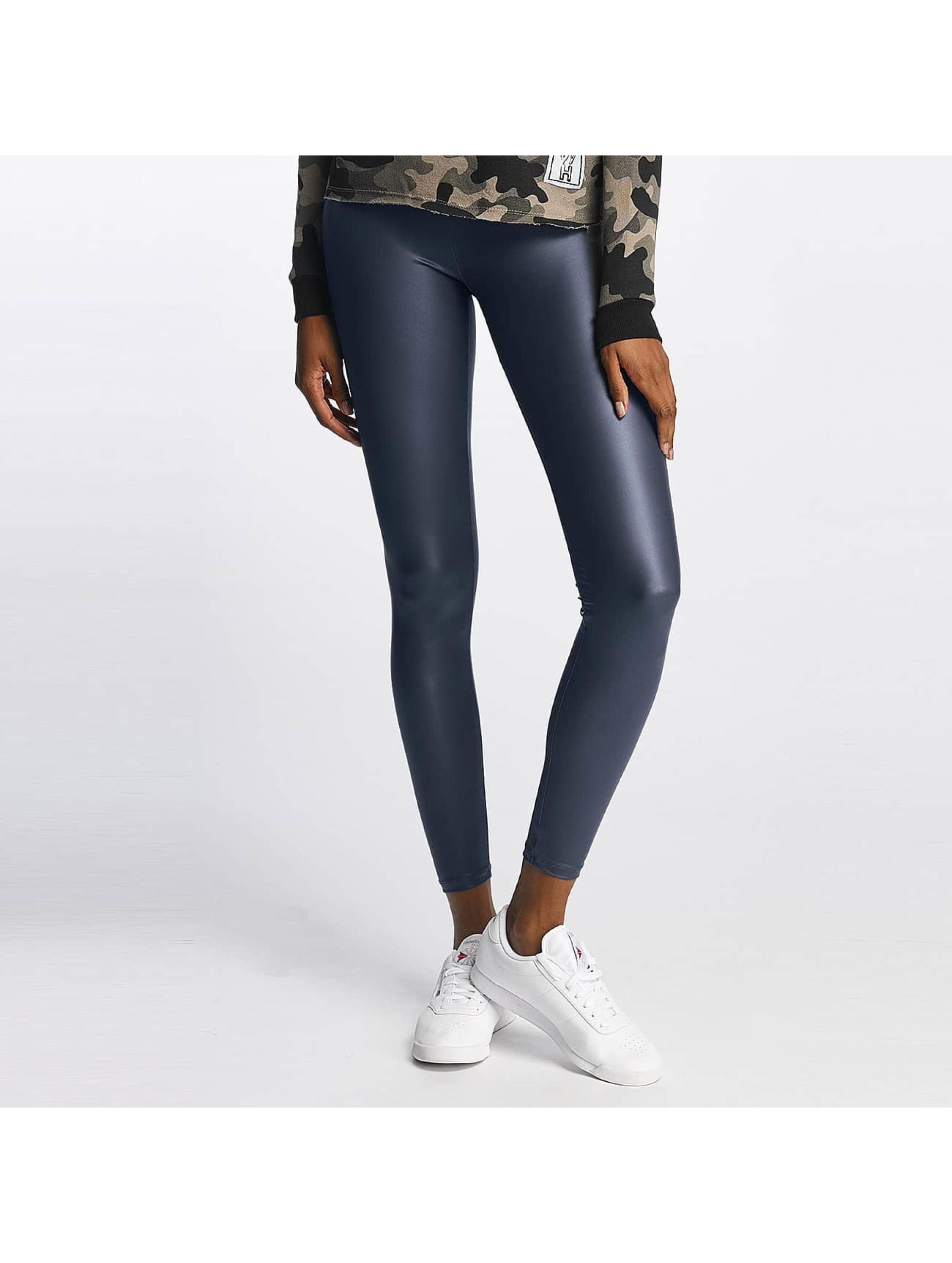 Pieces Frauen Legging pcPetra Shiny in grau