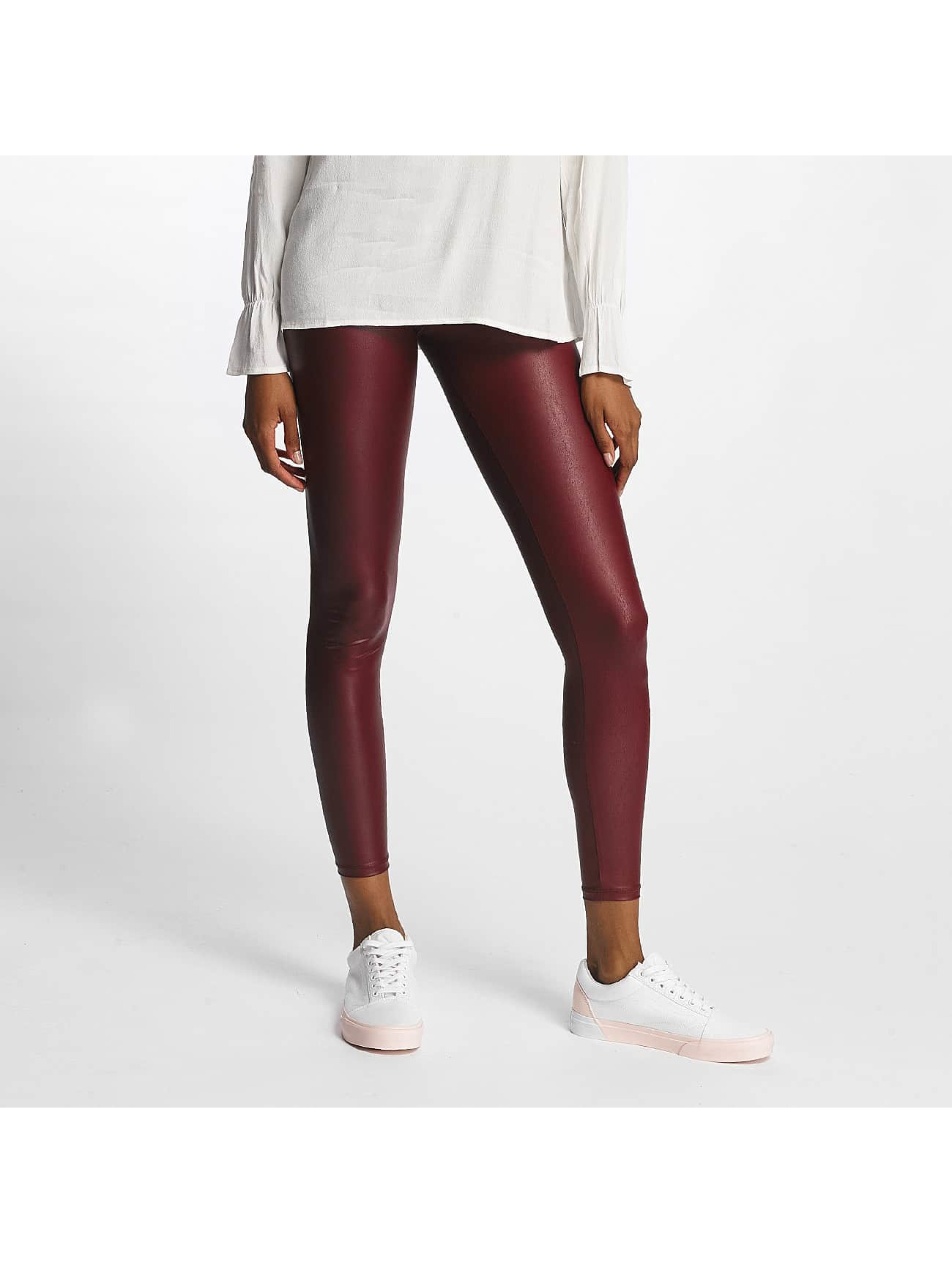 Pieces Frauen Legging pcPetra Shiny in rot