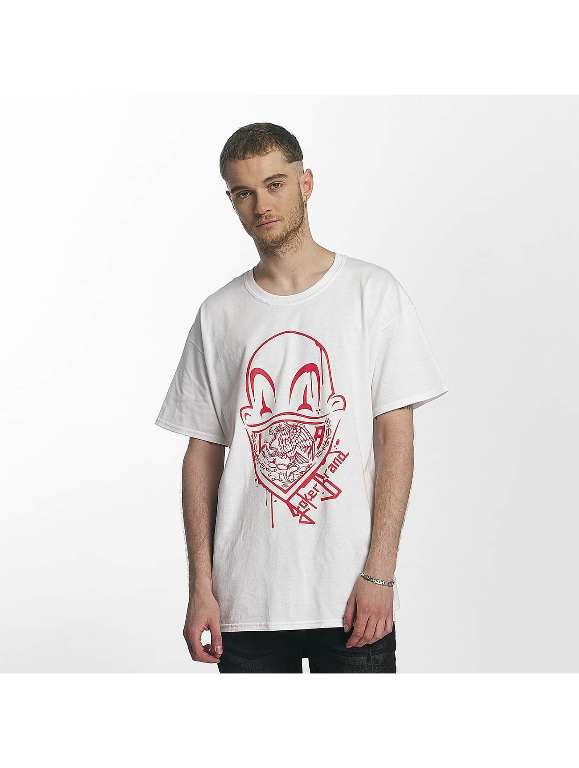 Joker Männer T-Shirt Clown Brand in weiß