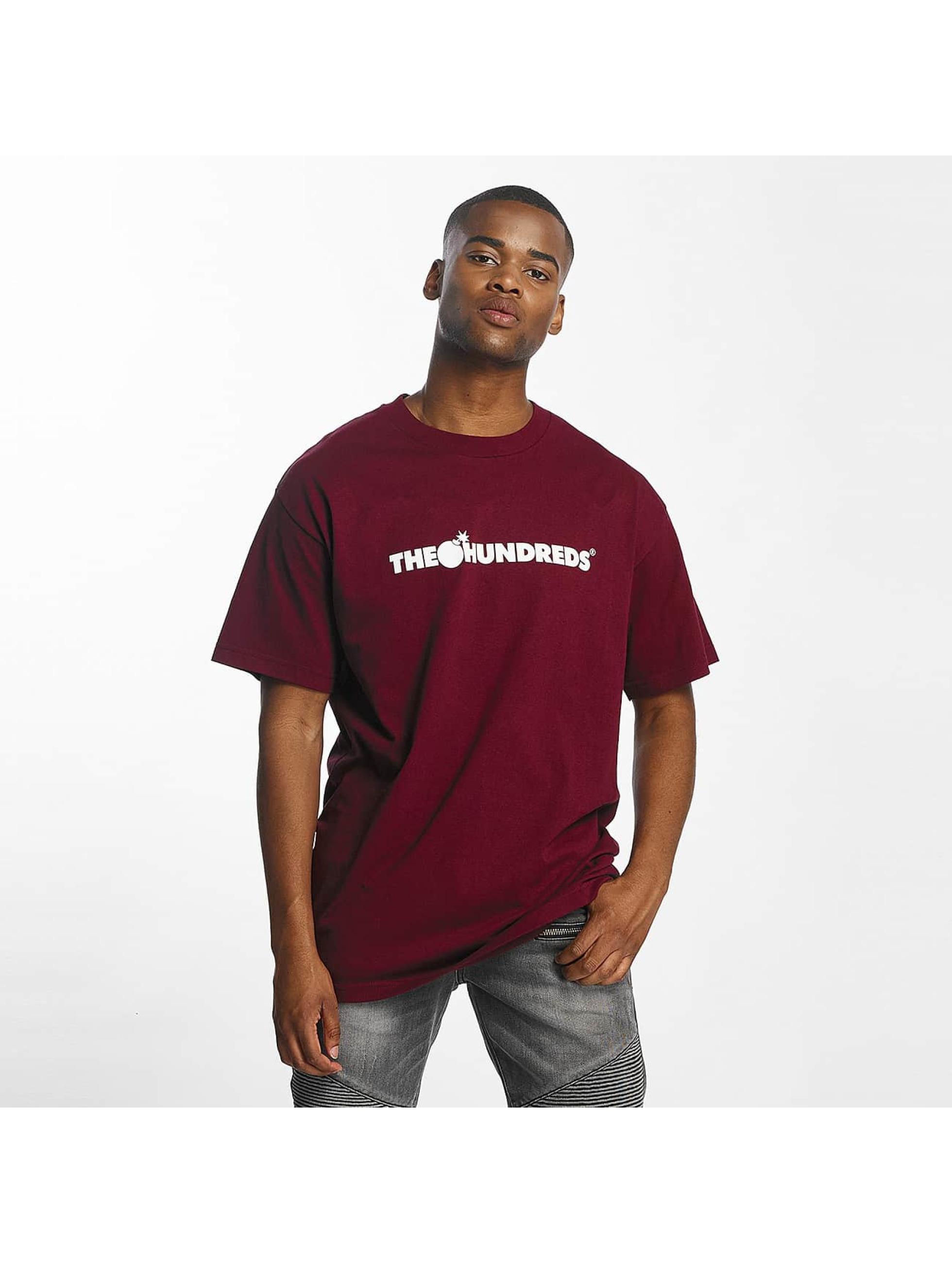 The Hundreds Männer T-Shirt Forever Bar Logo in rot