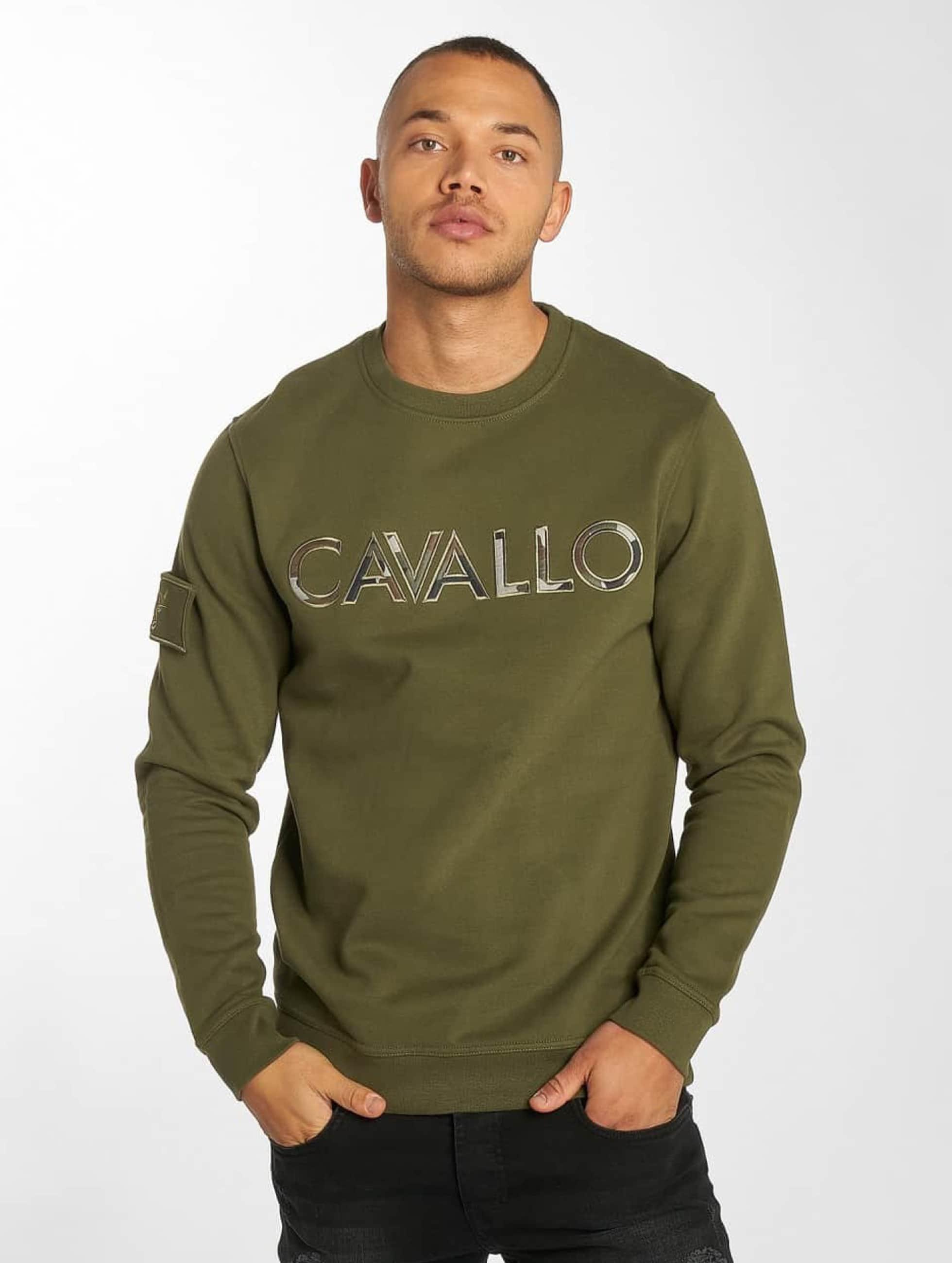 Cavallo de Ferro / Pullover Camo Logo in olive XL