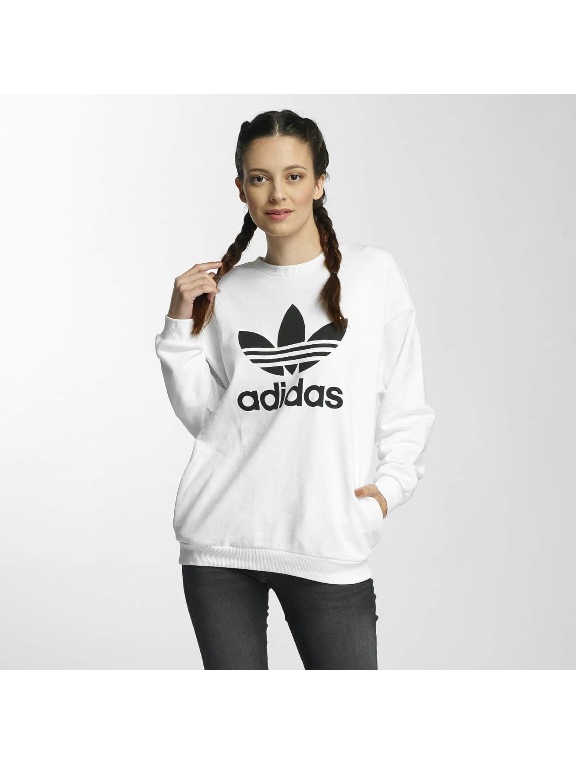 adidas damen oberteile pullover trefoil ebay. Black Bedroom Furniture Sets. Home Design Ideas