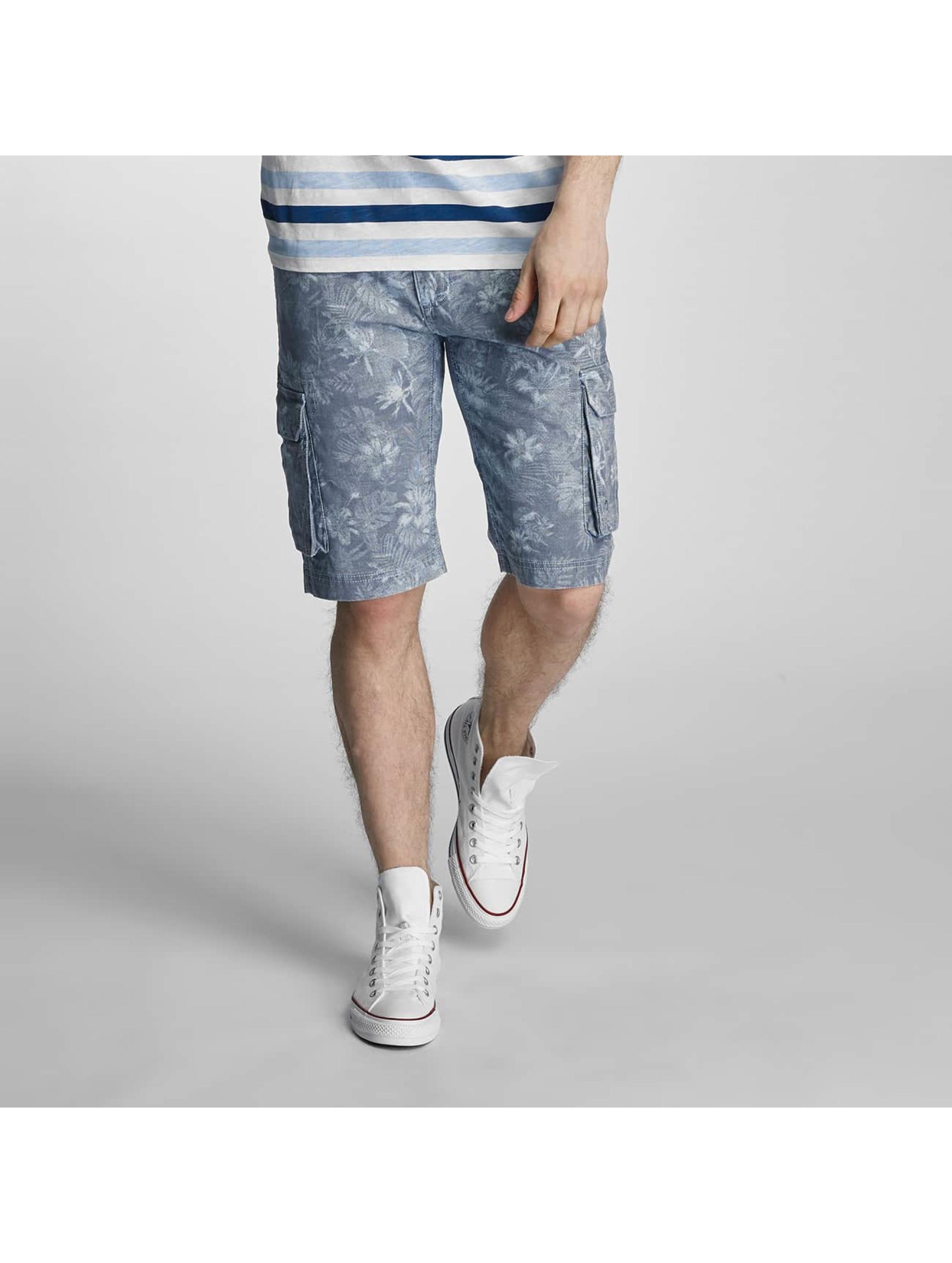 SHINE Original Männer Shorts Long Printed in blau