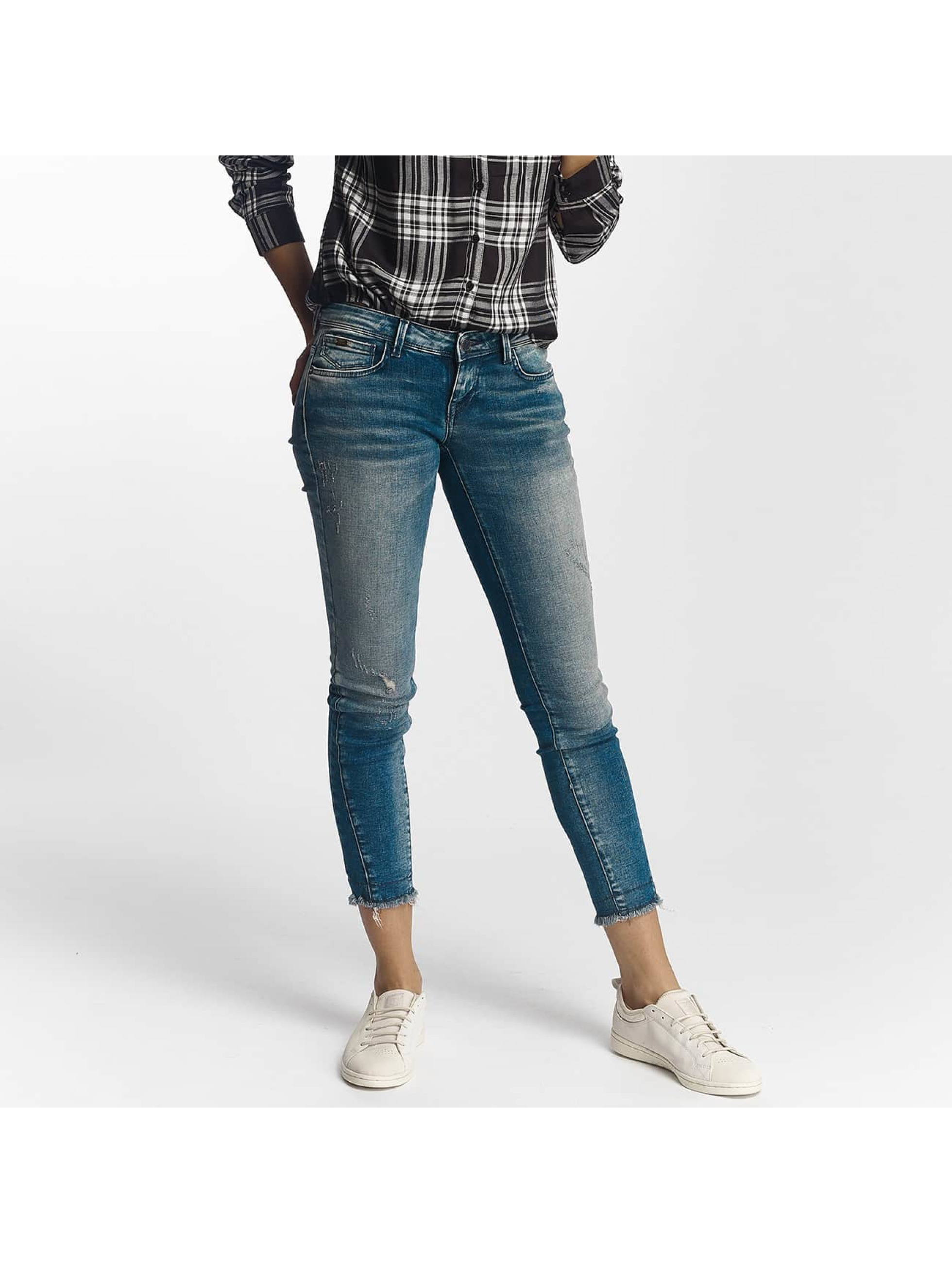 Only Frauen Slim Fit Jeans onlCoral in blau