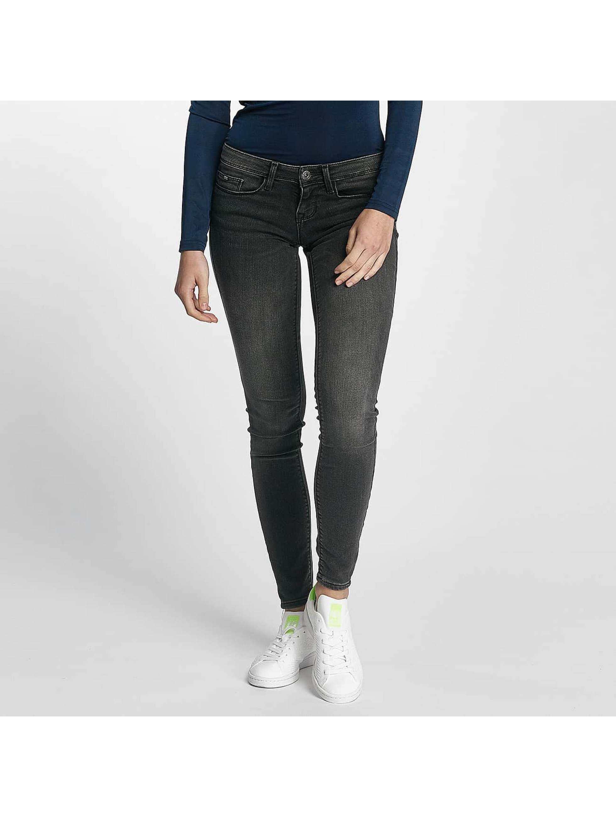 Only Frauen Slim Fit Jeans onlCoral in grau
