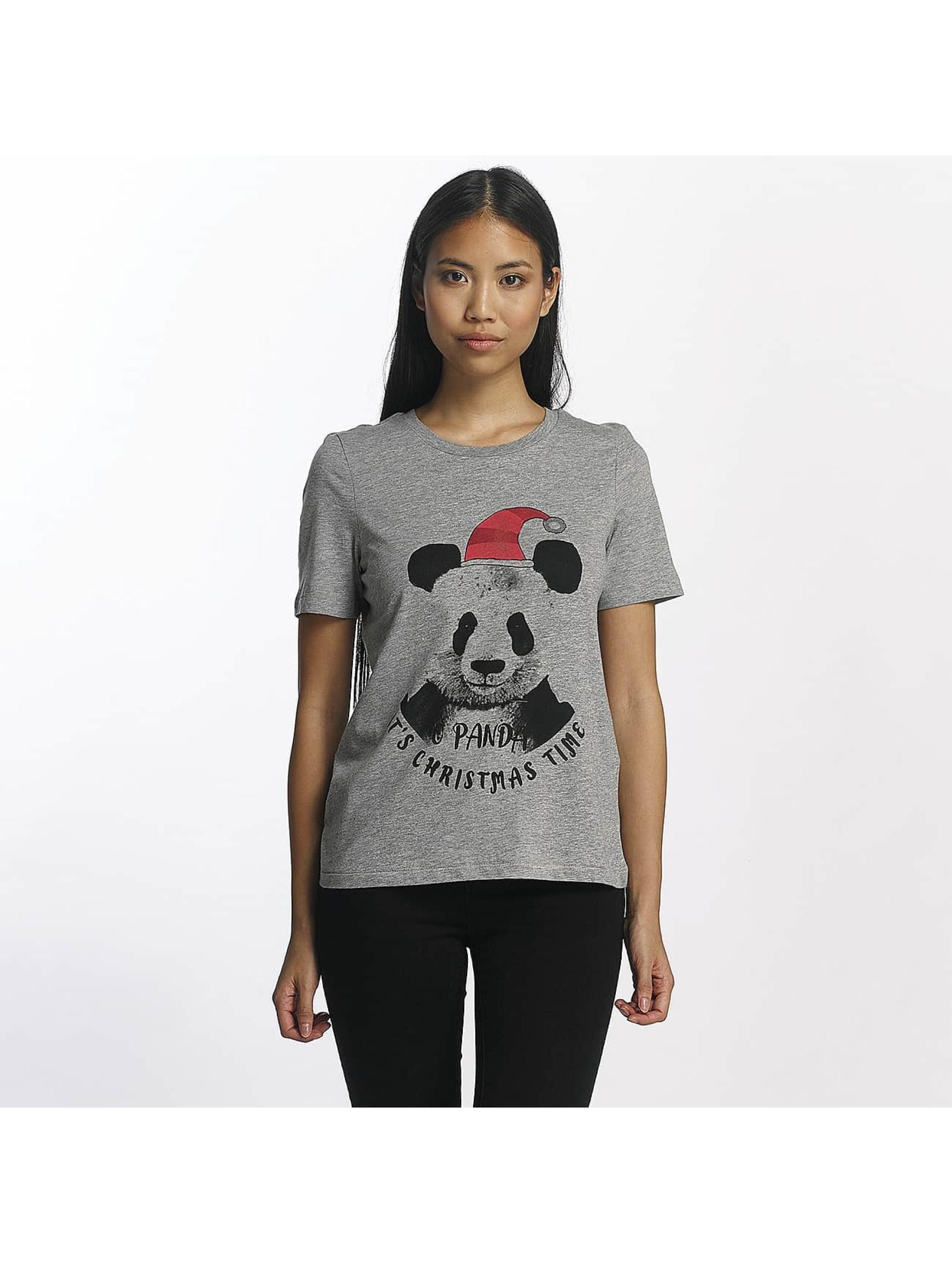 Vero Moda Frauen T-Shirt vmPanda in grau