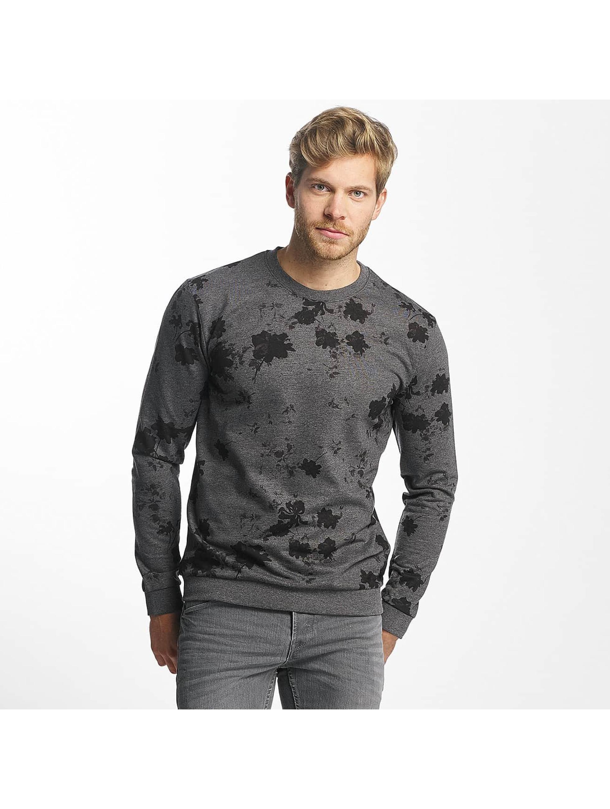 Only & Sons Männer Pullover onsTim Flower in schwarz