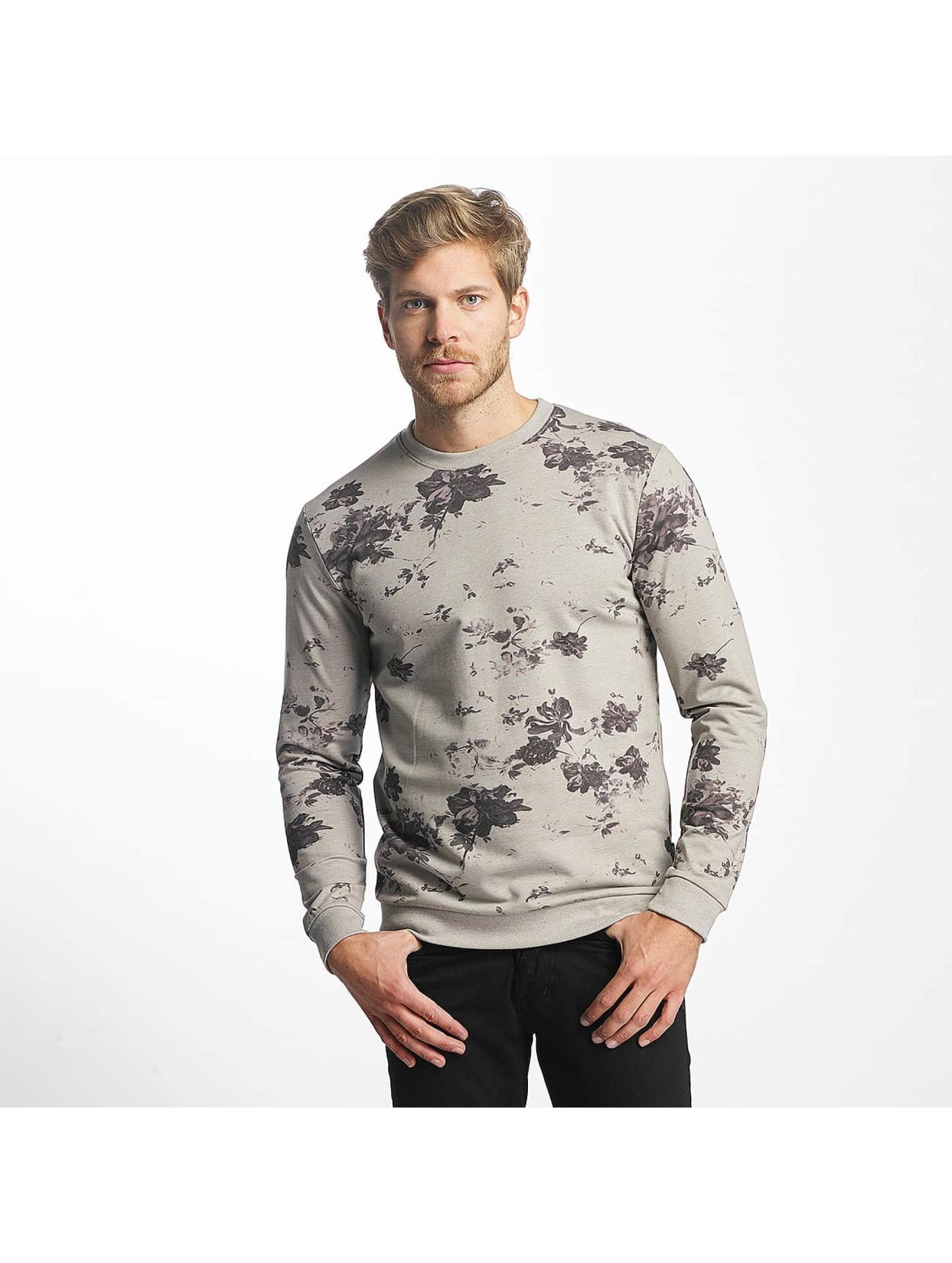 Only & Sons Männer Pullover onsTim Flower Print in grau