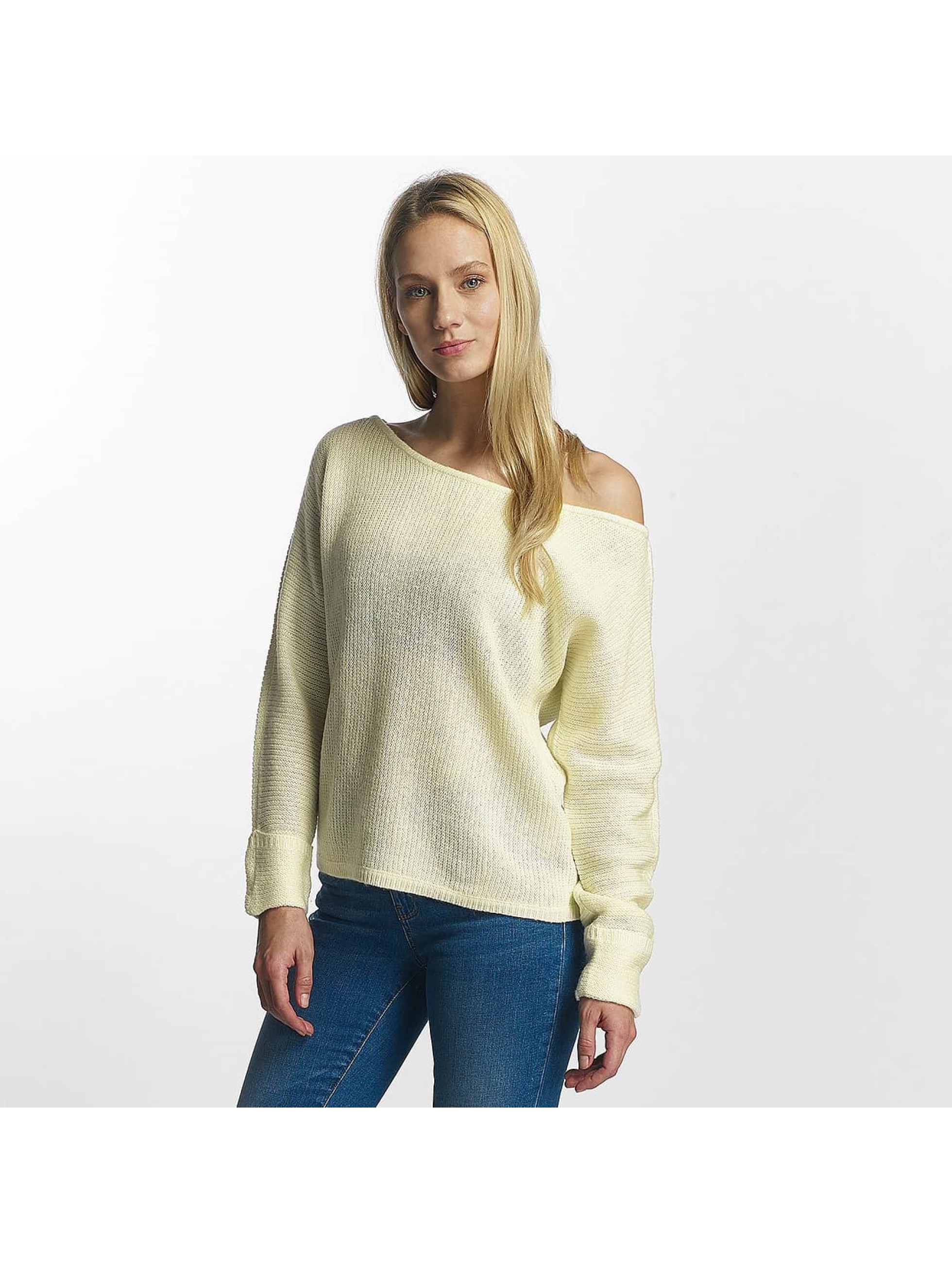 Noisy May Frauen Pullover nmAbbey in weiß