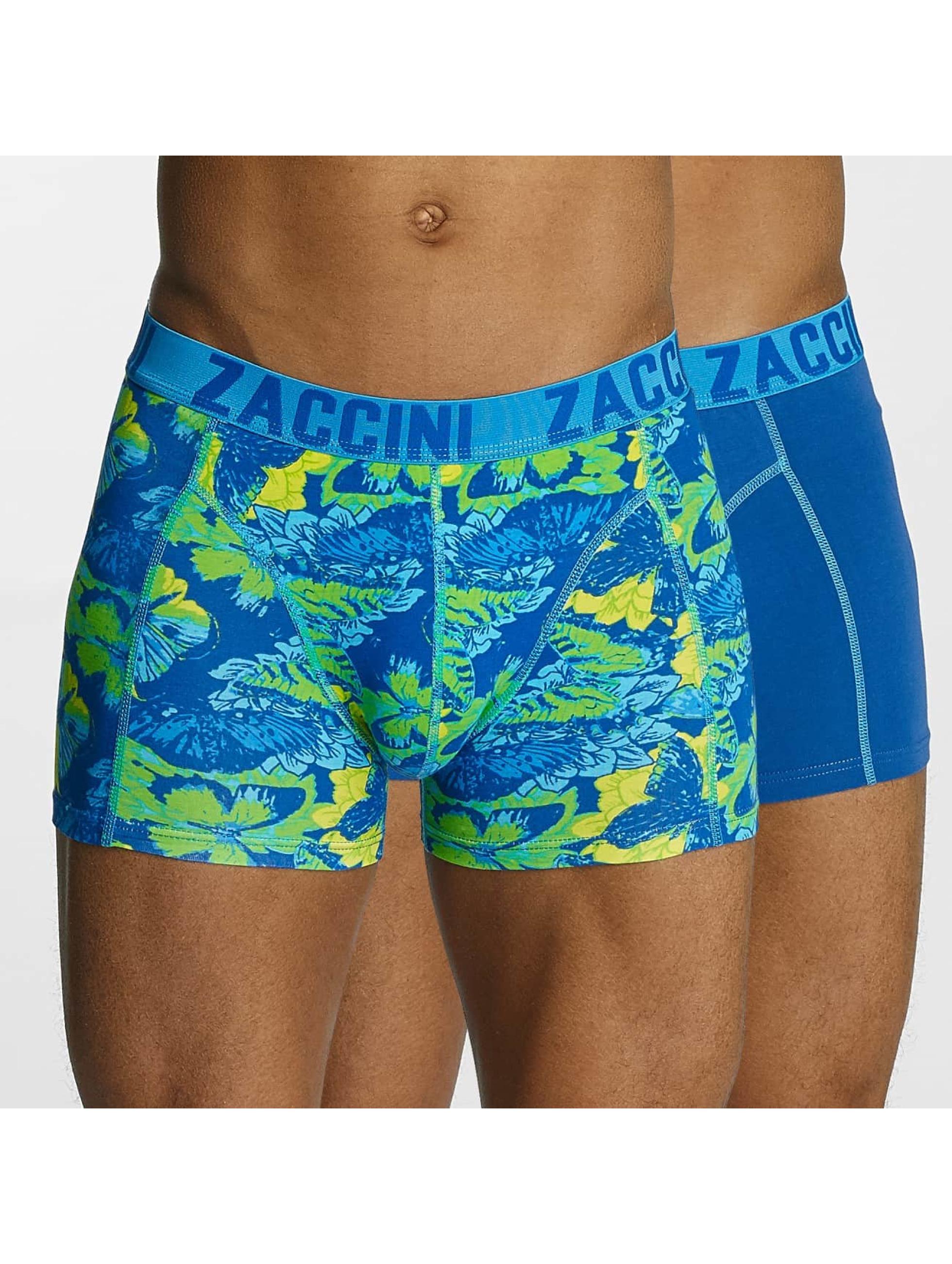 Zaccini Männer Boxershorts Summer Butterfly in blau