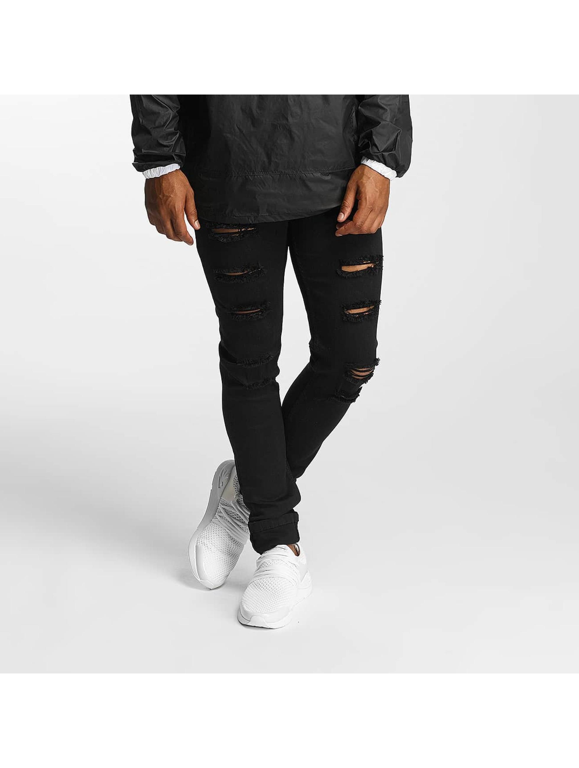 DEF Männer Slim Fit Jeans Max in schwarz