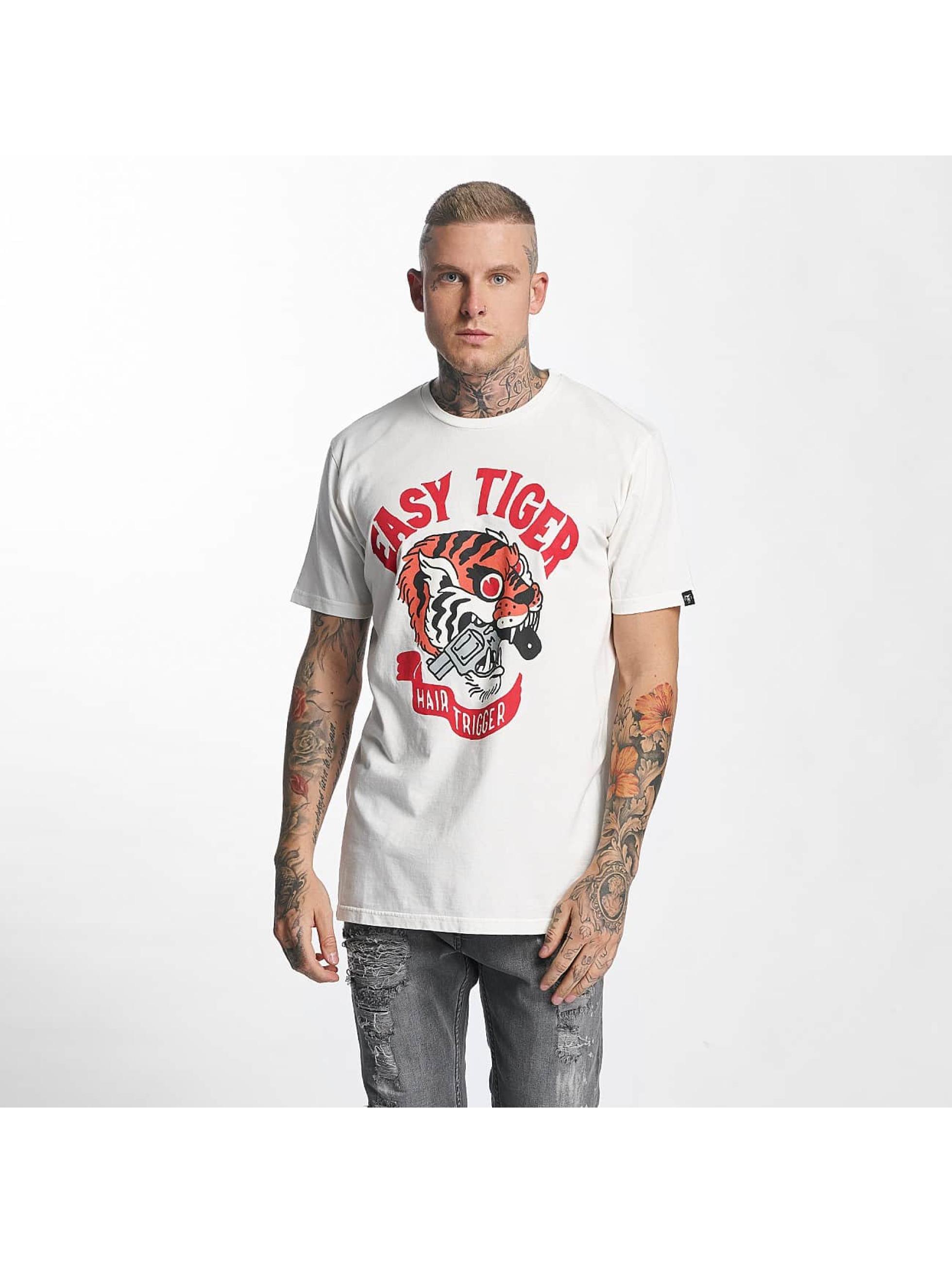 The Dudes Männer T-Shirt Easy Tiger in weiß