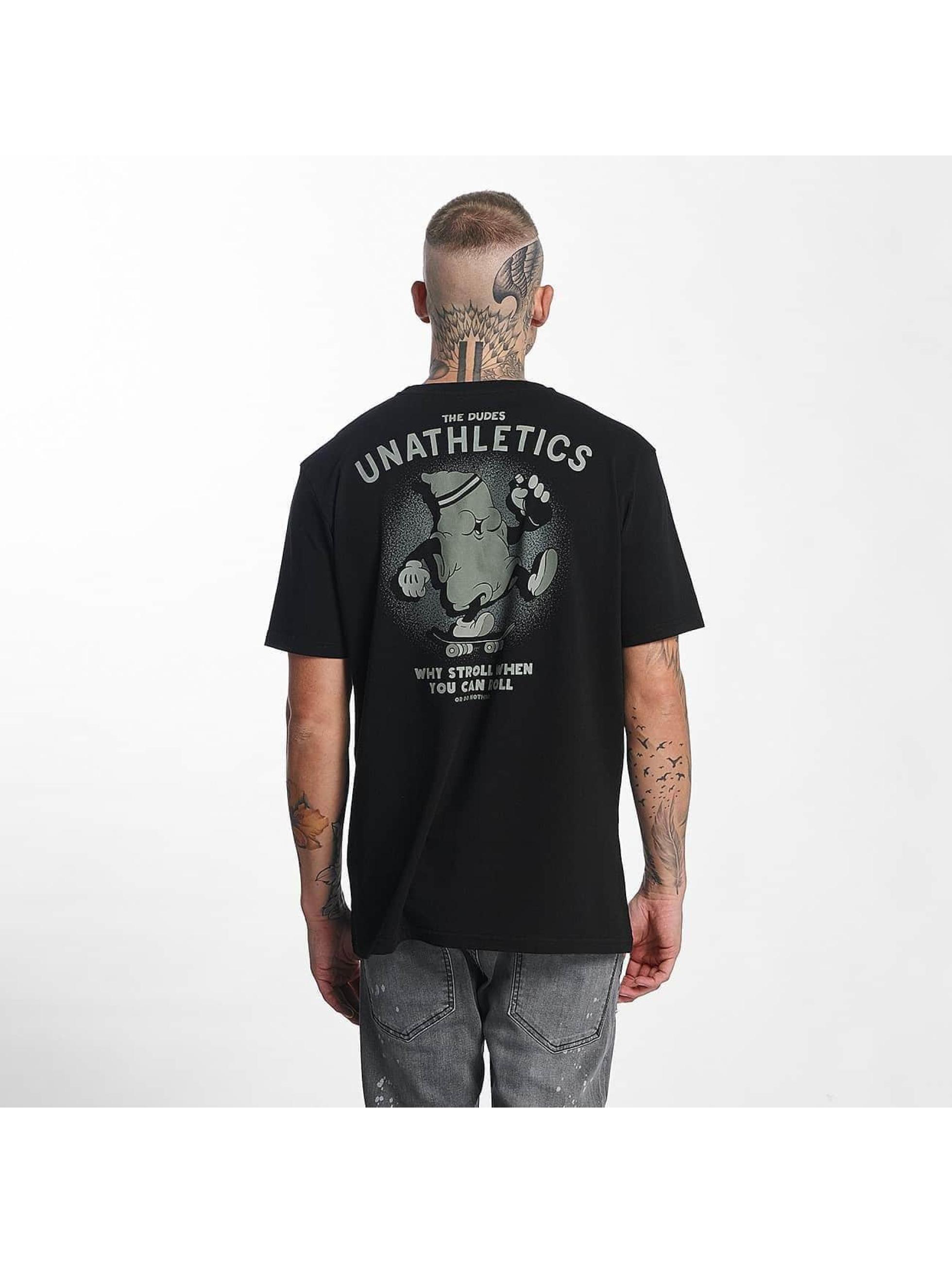 The Dudes Männer T-Shirt Stroll in schwarz